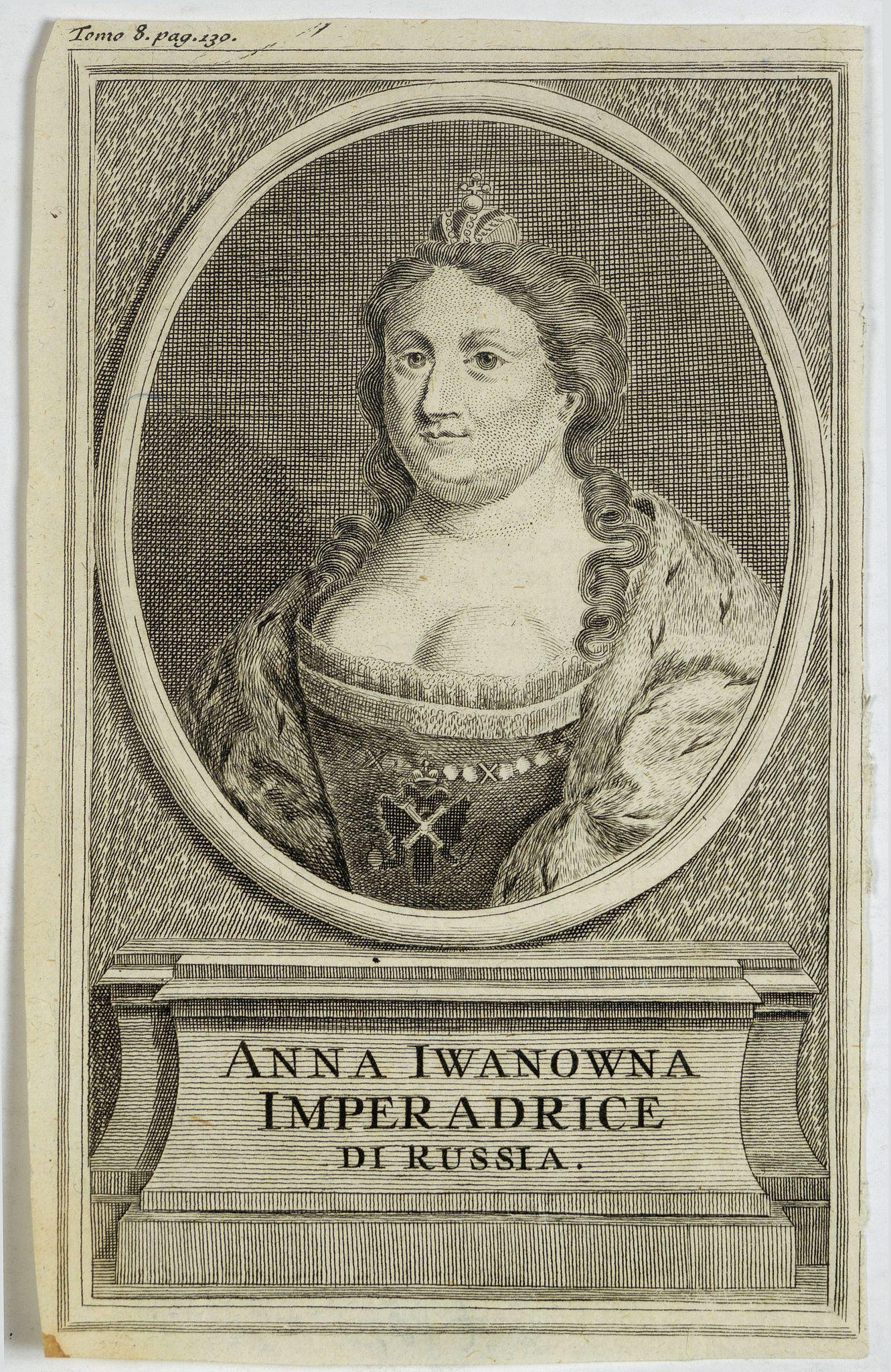 ANONYMOUS -  Anna Iwanowna Imperadrice di Russia.