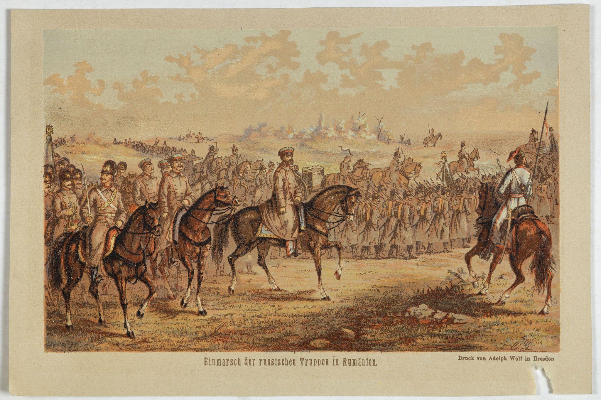 WOLF, A. -  Einmarsch der russischen truppen in Romänien.