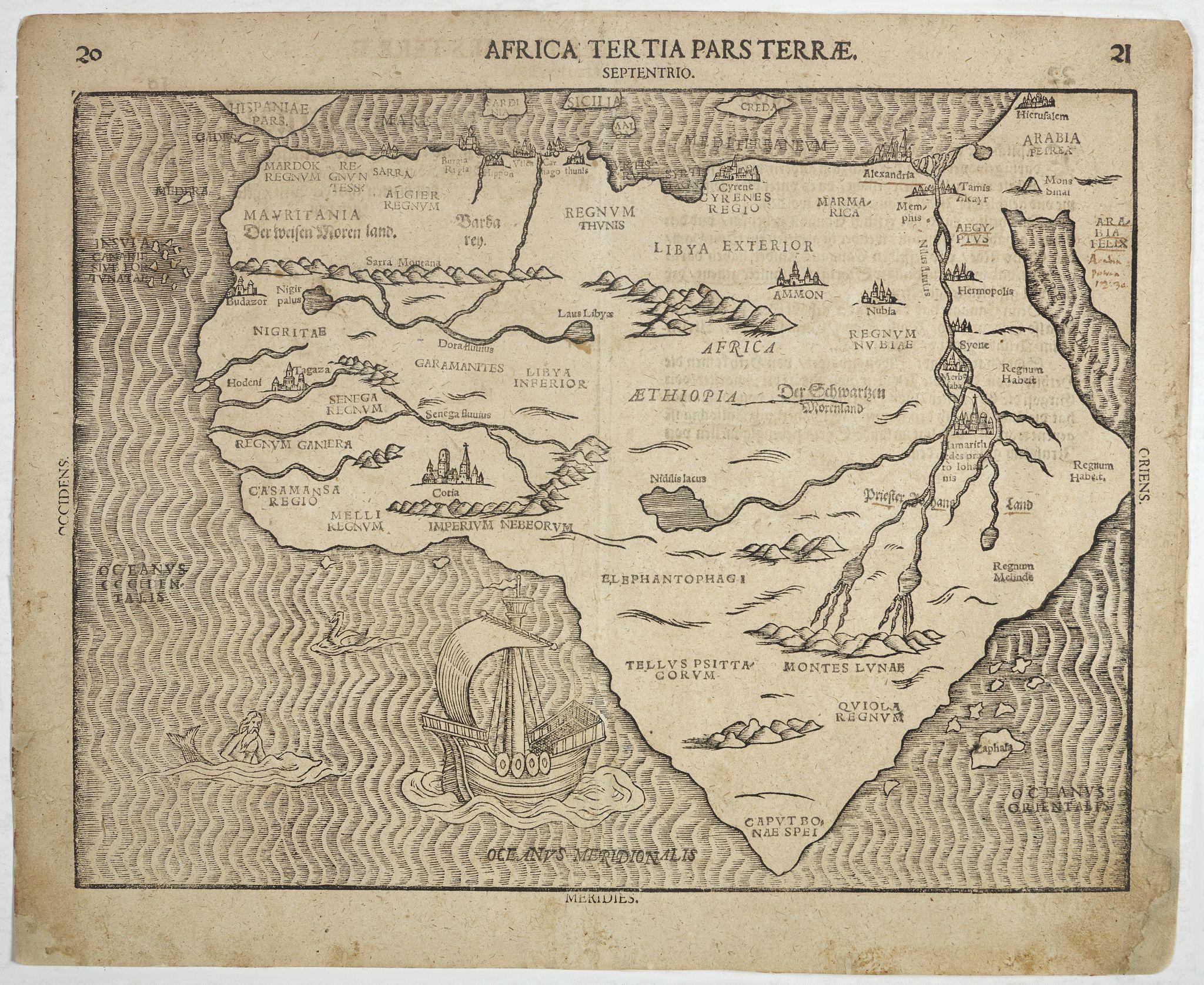 BÜNTING, H. - Africa Tertia pars Terrae.