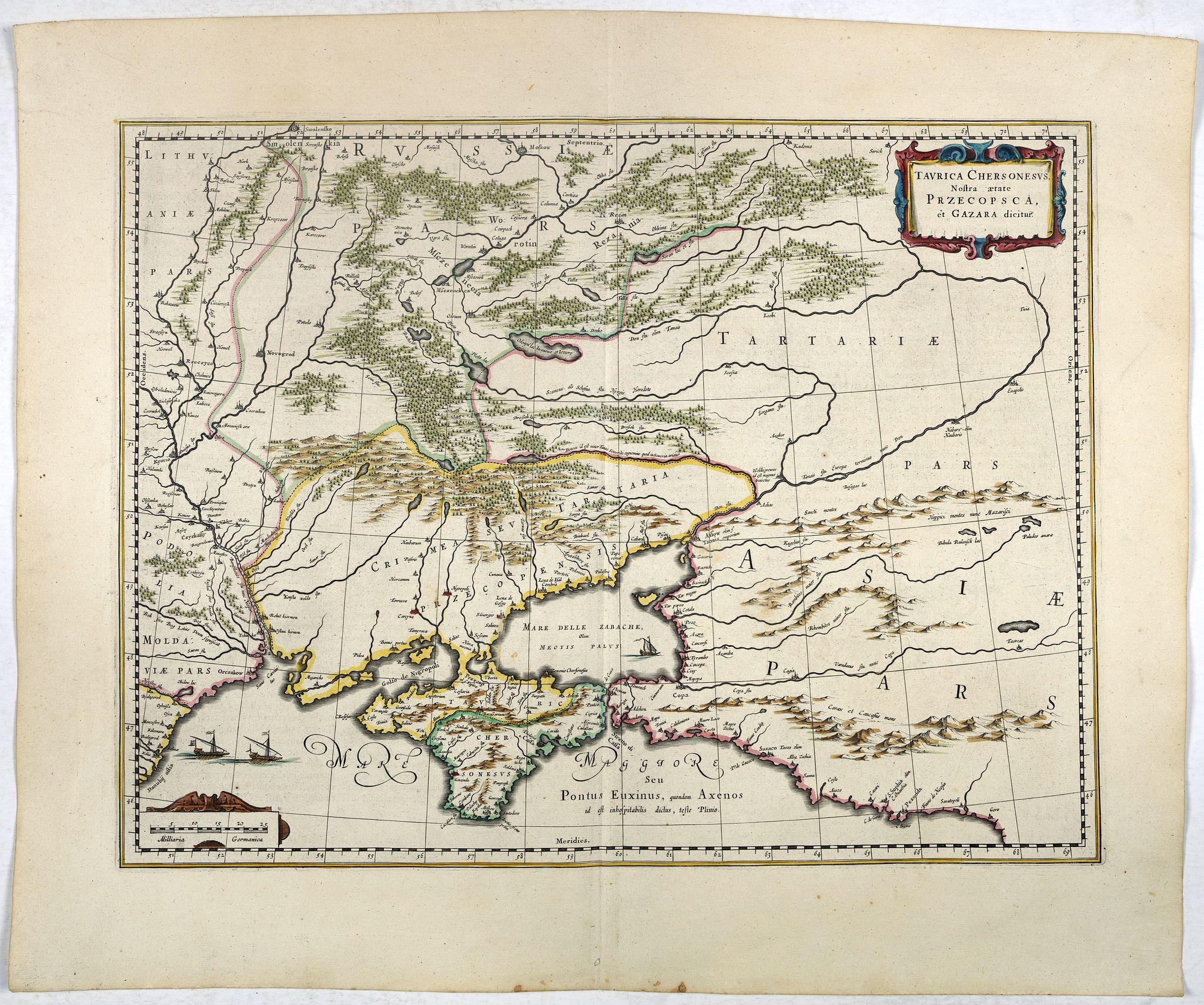 BLAEU, W. -  Taurica Chersonesus, Nostra aetate Przecopsca, et Gazara dicitur.