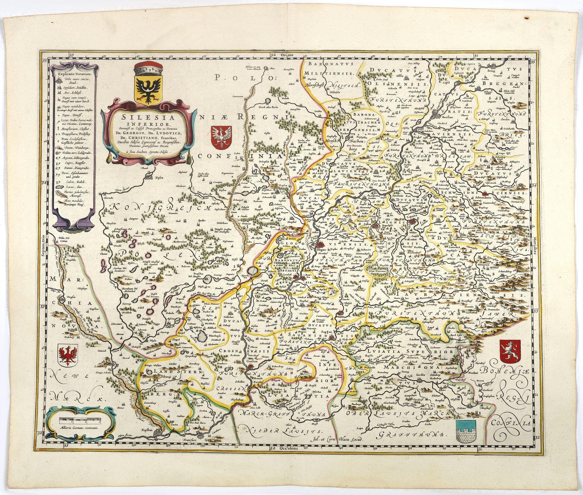 BLAEU, J.& C. -  Silesia Inferior. . .