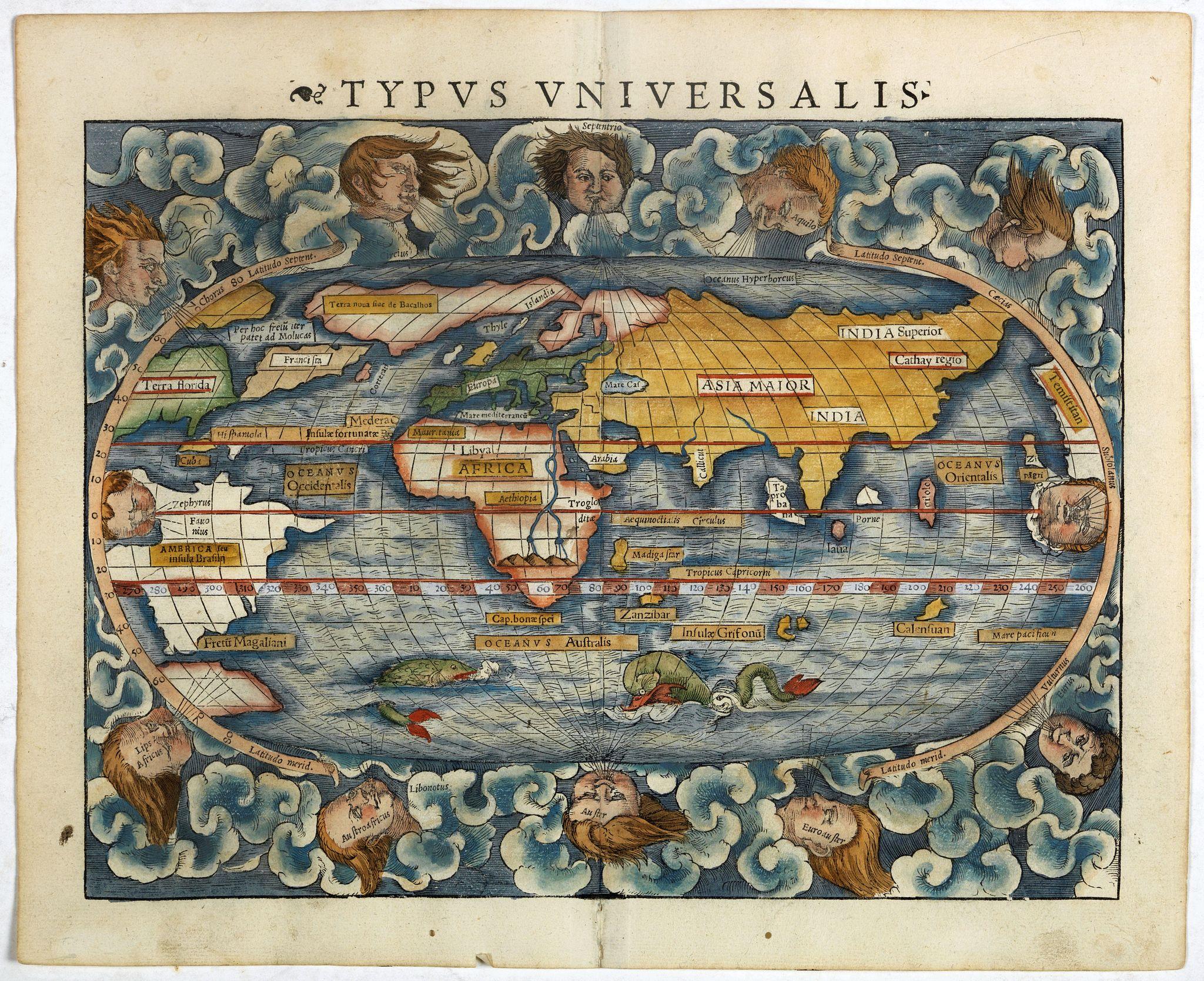 MÜNSTER, S. -  [World map]  Typus Universalis.