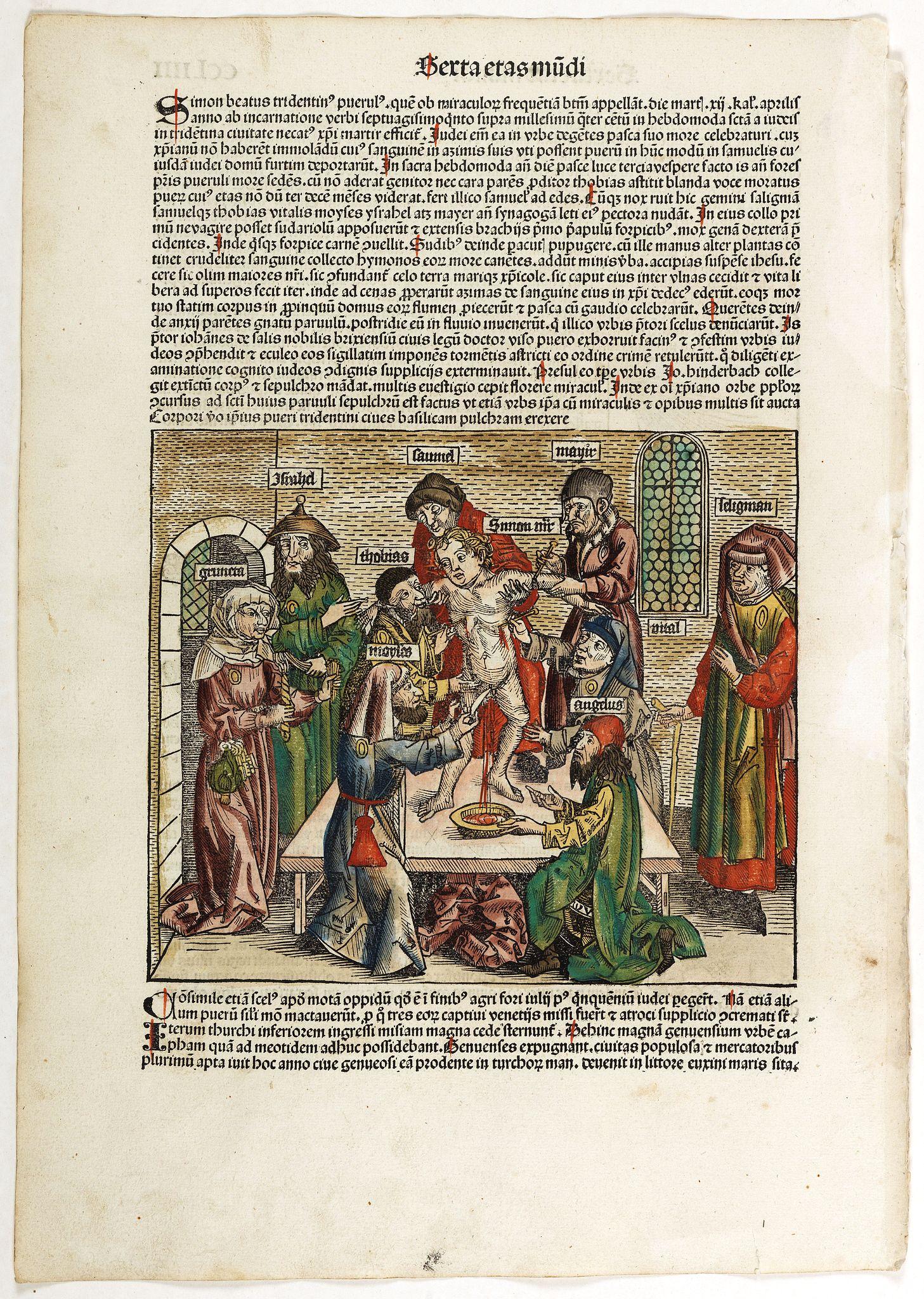 SCHEDEL, H. -  Sexta Etas Mudi. CCLIIII Simon Beatus ..
