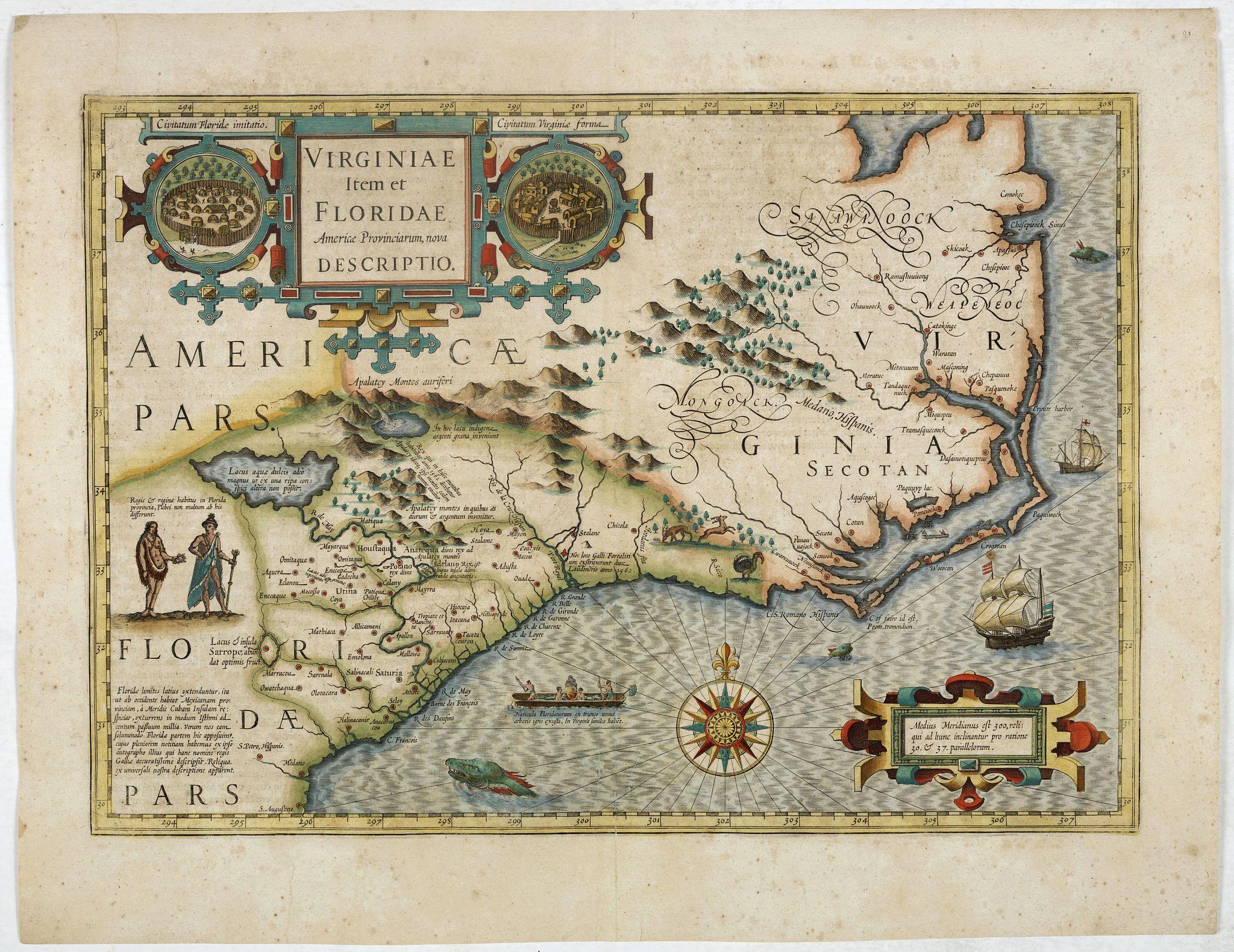 MERCATOR, G. / HONDIUS, J. -  Virginiae item et Floridae. . .