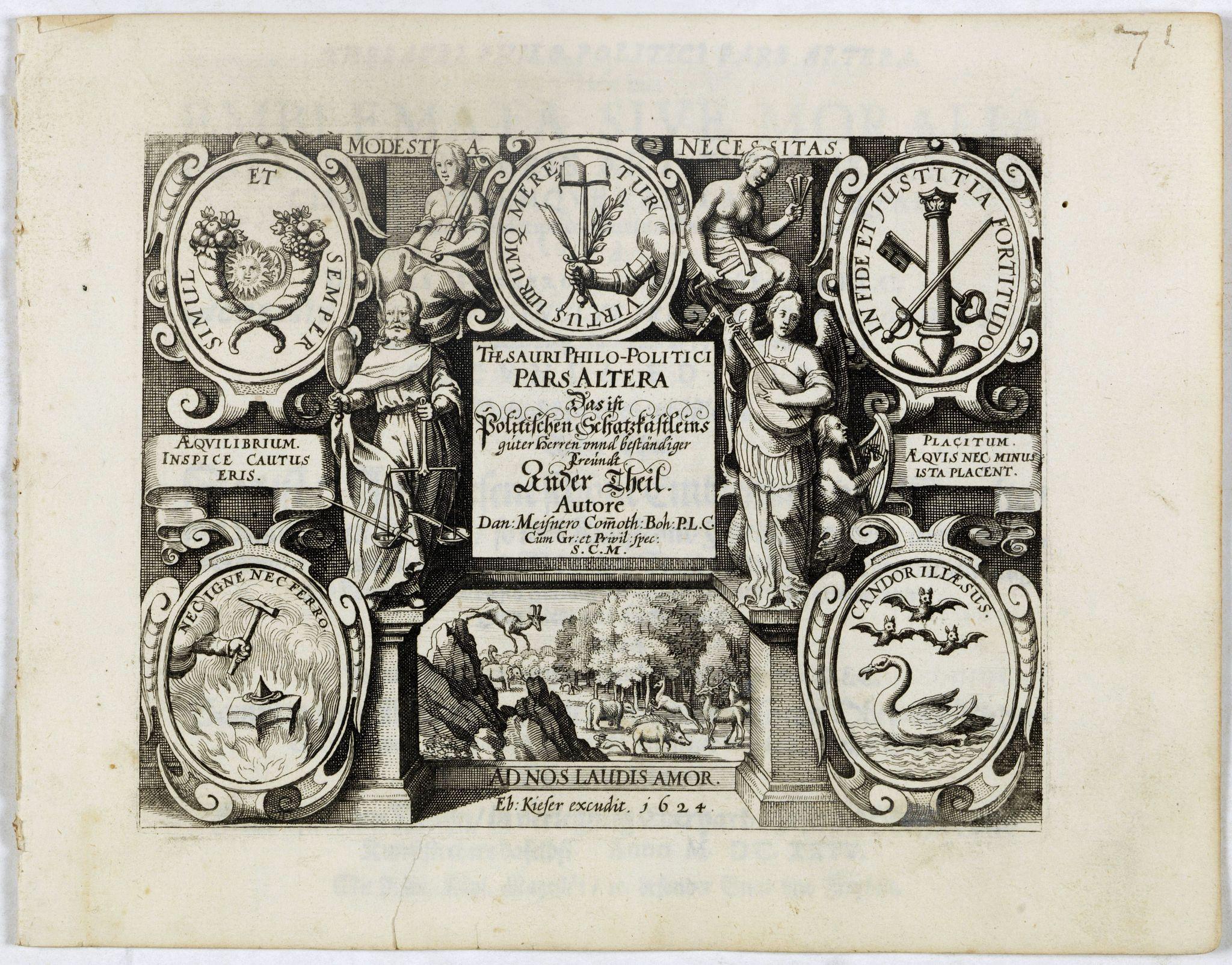 MEISNER, D. -  [Title page] Thesauri Philo-Politci pars Altera. . .
