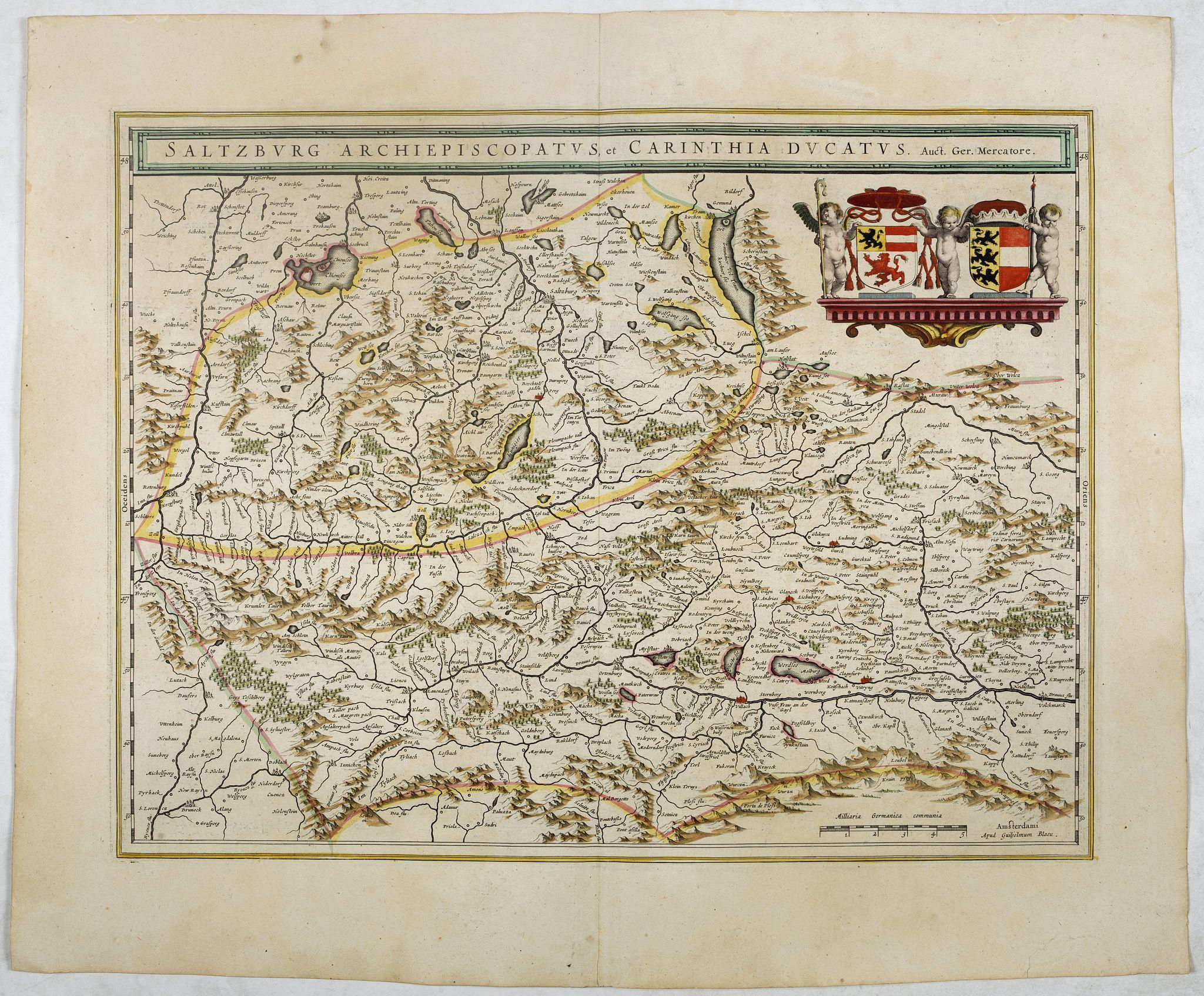 BLAEU, W. -  Saltzburg Archiepiscopatus, et Carinthia Ducatus.