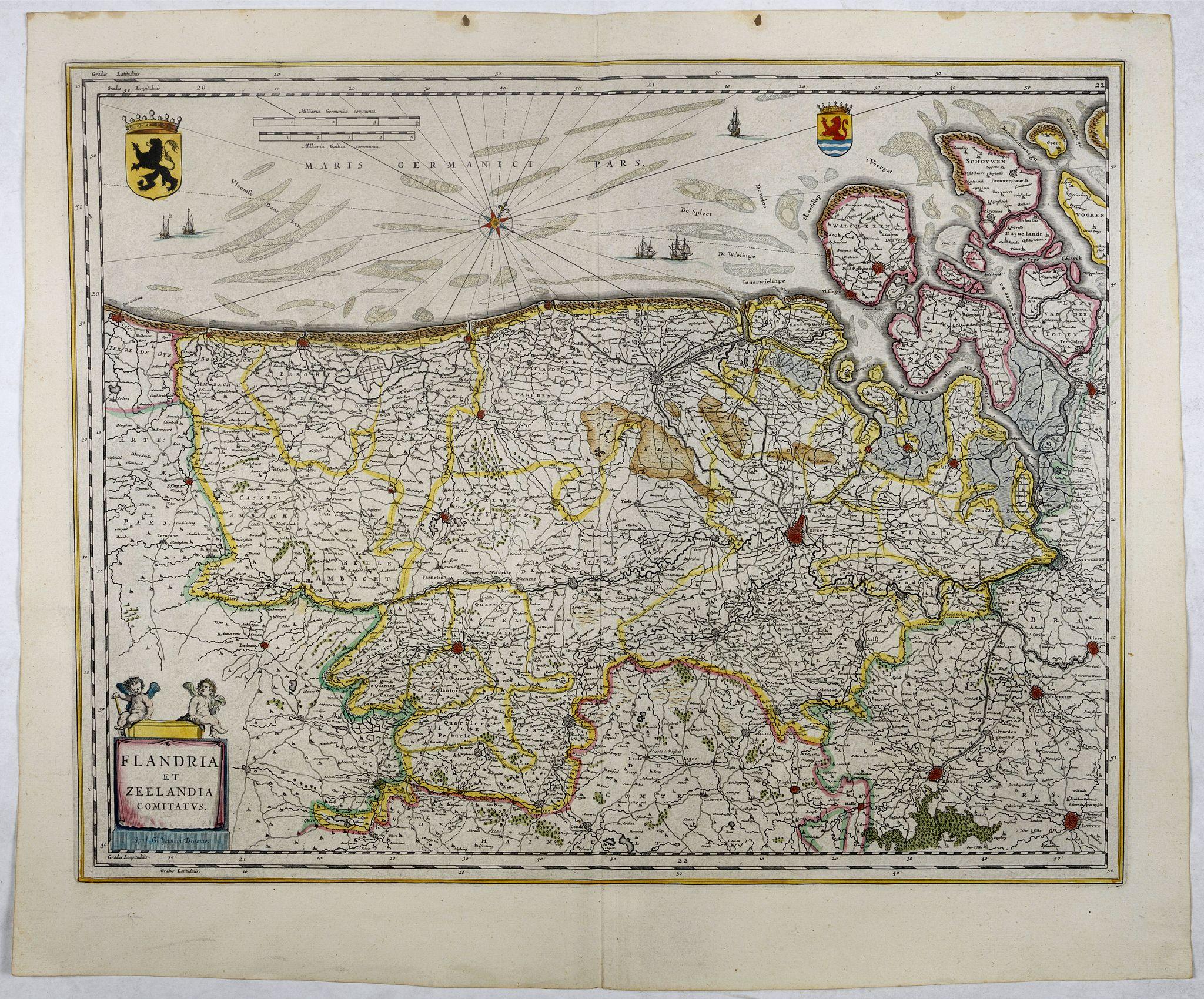 BLAEU, W. -  Flandria et Zeelandia Comitatus.