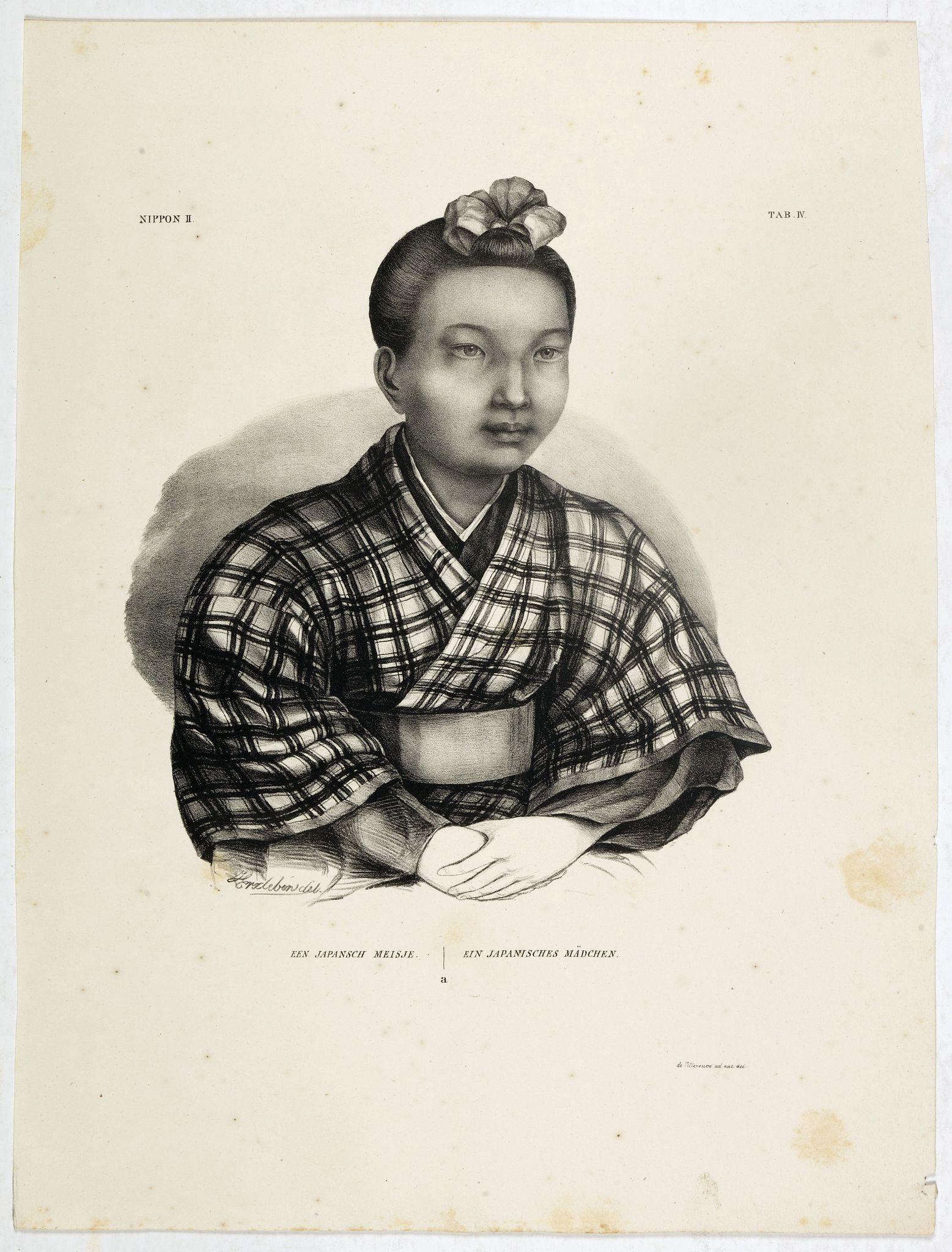 VON SIEBOLD, P.Fr.B. -  Een Japansch Meisje - Ein japanisches Madchen.