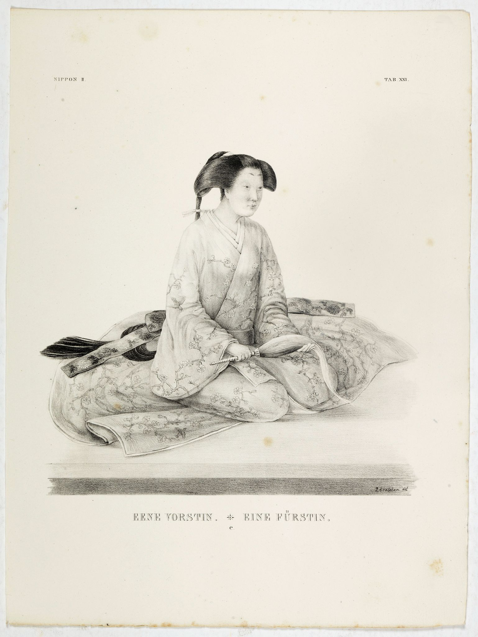 VON SIEBOLD, P.Fr.B. -  Eene Vorstin. [Japanese Empress]