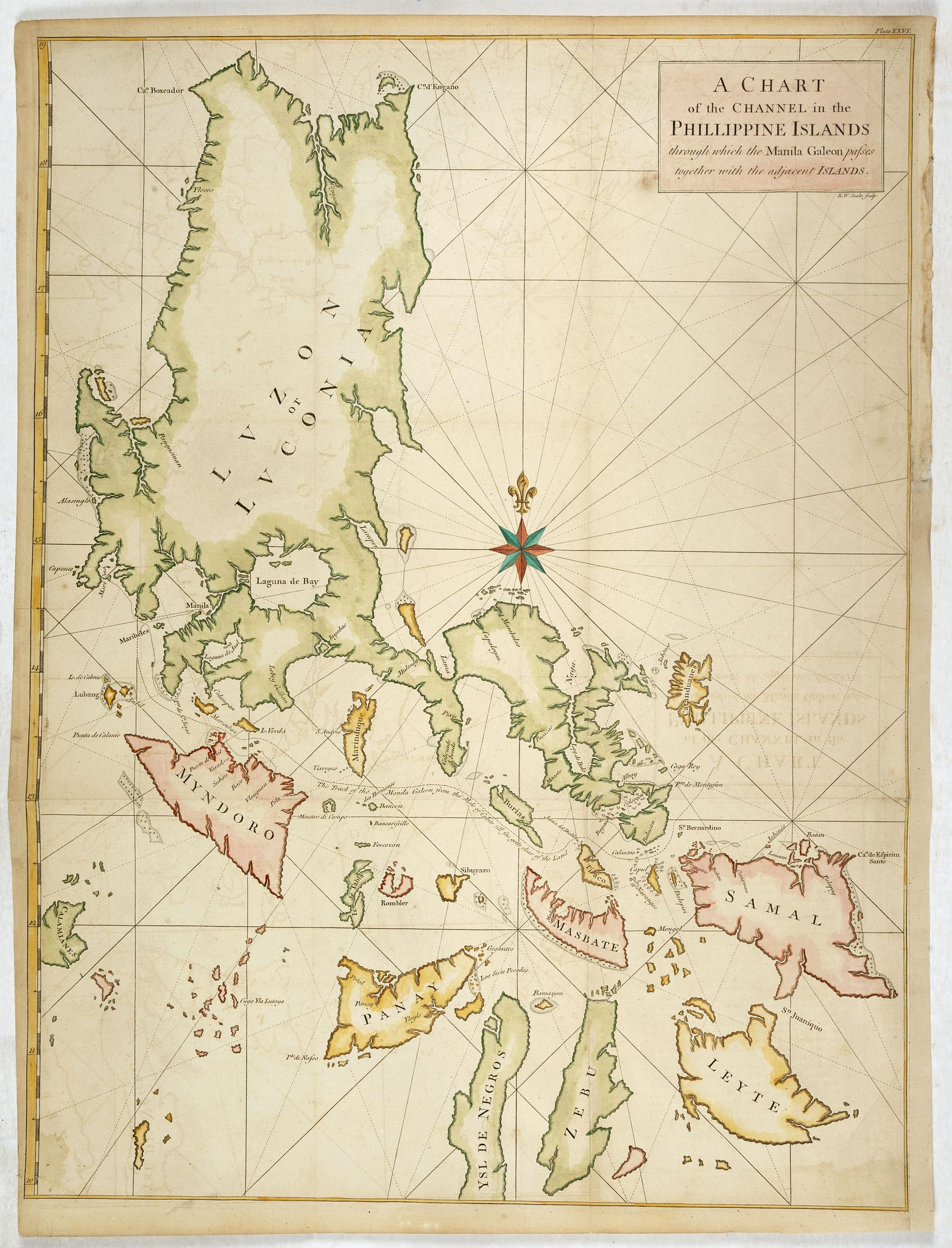 ANSON, G. / SEALE, R.W. -  A Chart of the Channel in the Phillippine Islands . . .