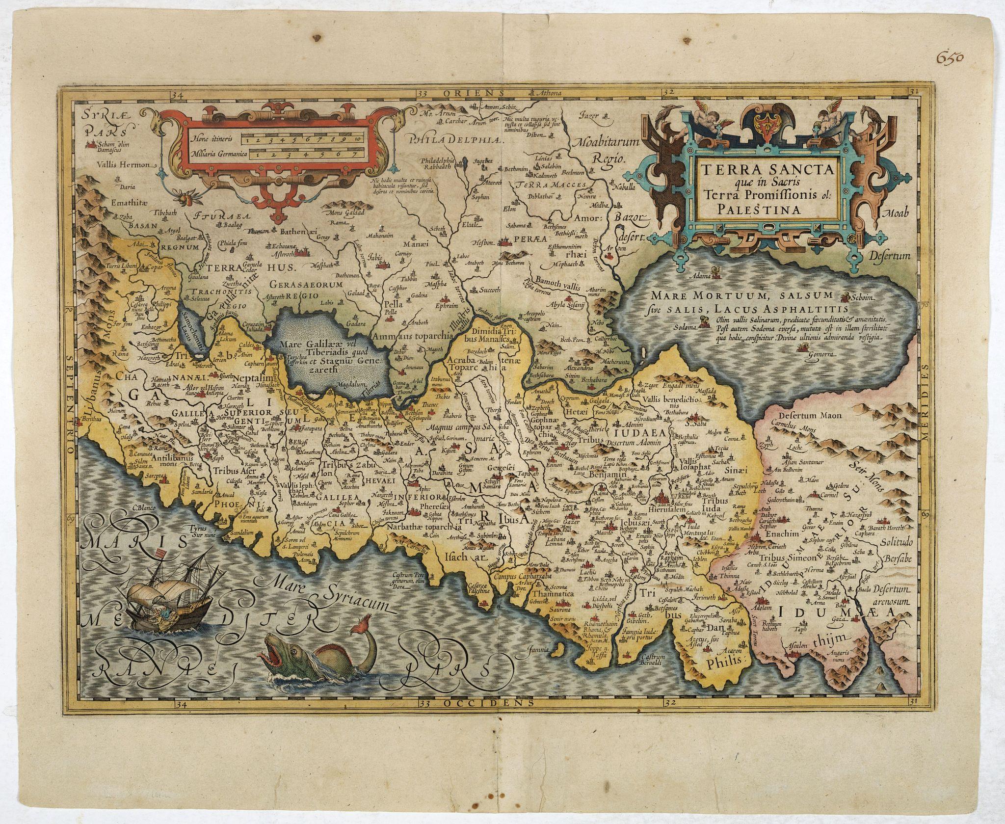 MERCATOR, G. / HONDIUS, J. -  Terra Sancta que in Sacris Terra Promissionis ol: Palestina