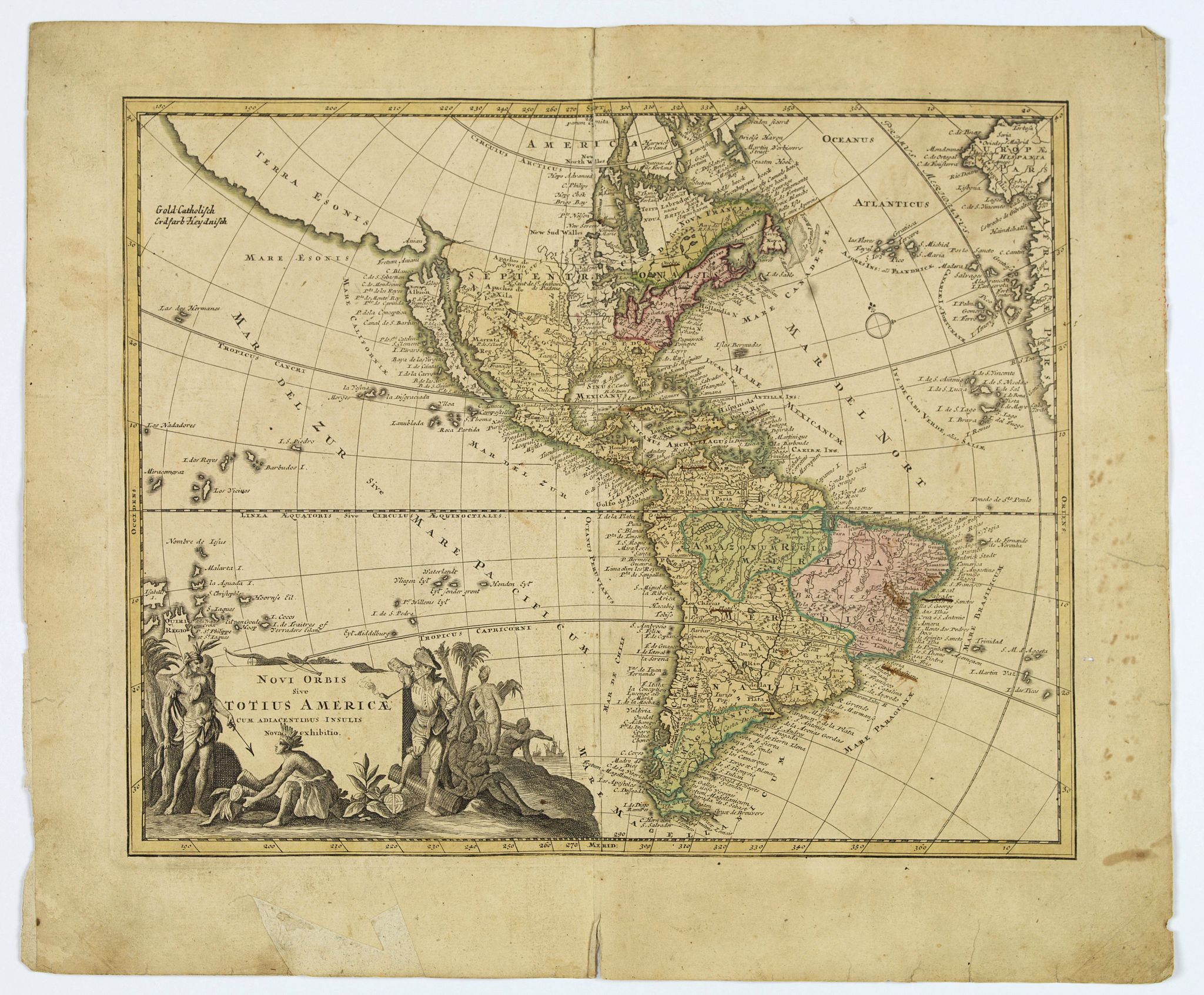 WEIGEL, Johann Christoph. - Novi Orbis sive Totius Americae cum adiacentibus Insulis. . .
