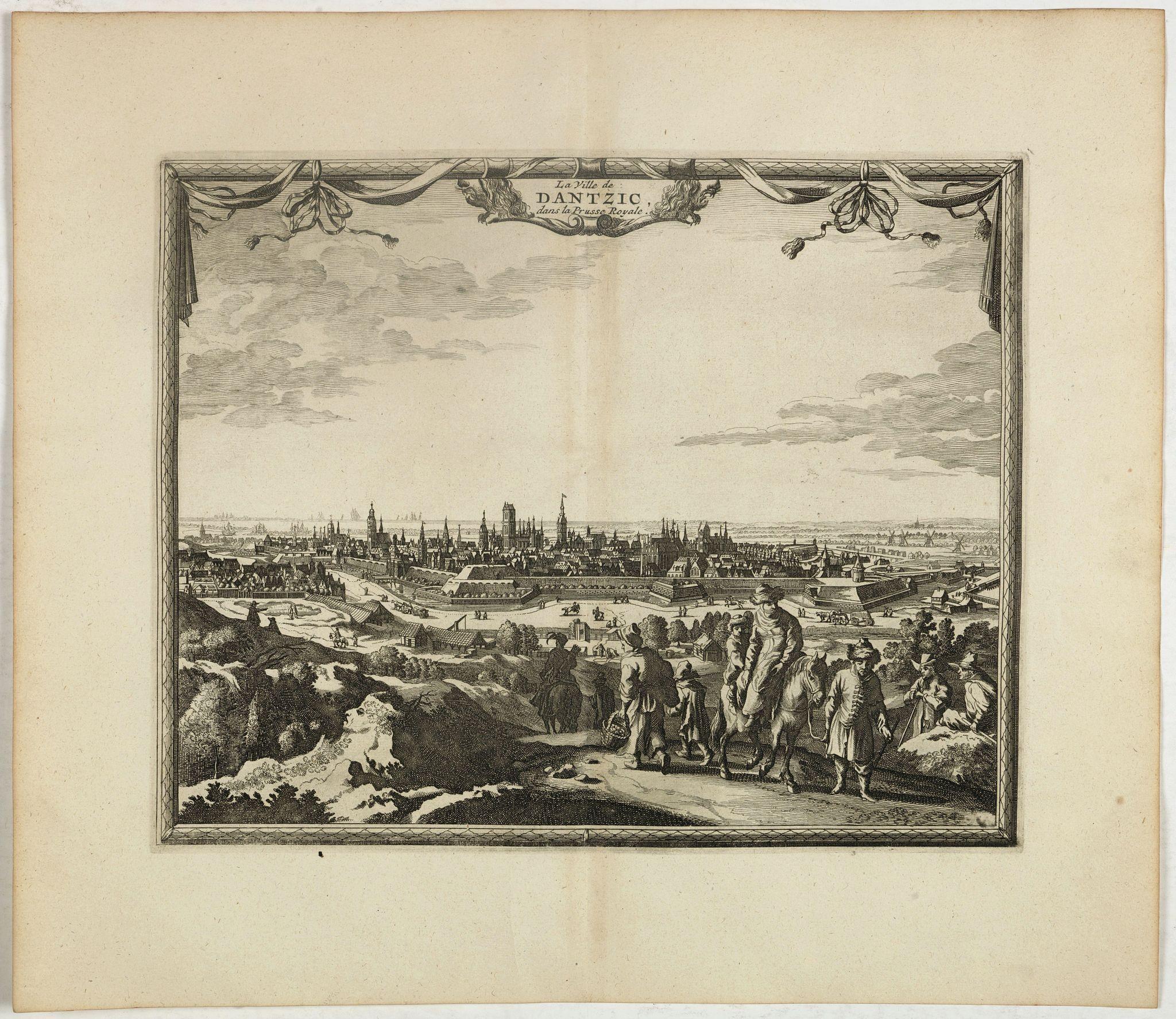 VAN DER AA, P. / OLEARIUS, A. -  La ville de Dantzic dans la Prusse Royale.