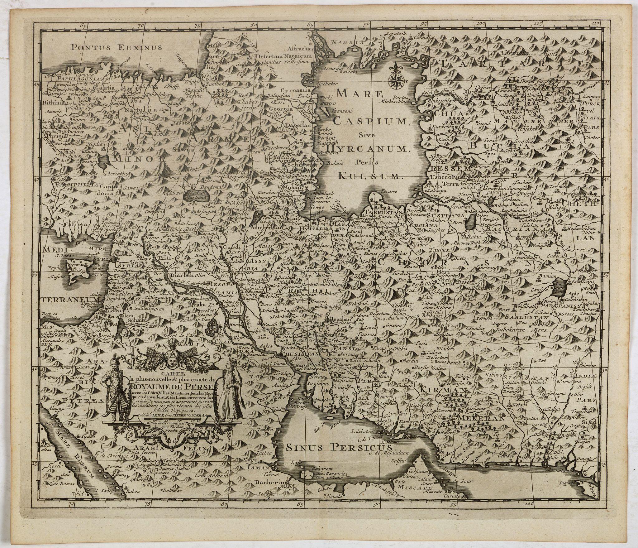 VAN DER AA, P. / OLEARIUS, A. -  Carte la plus nouvelle et plus exacte du royaume de Perse . . .