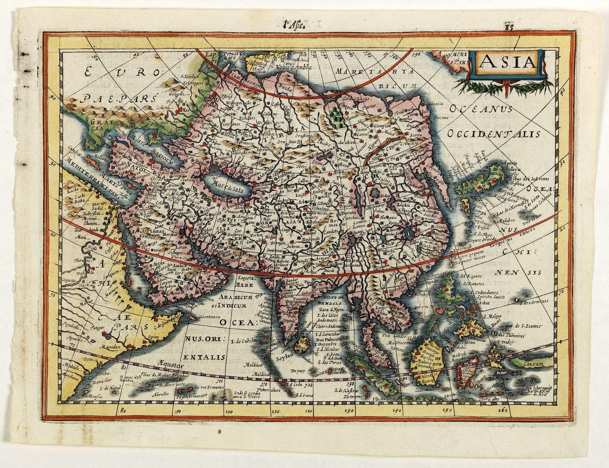 MERCATOR, G. / CLOPPENBURGH, J.E. -  Asia.