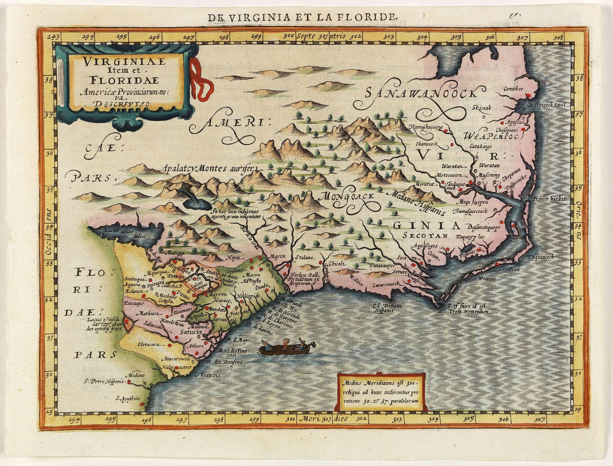 MERCATOR, G. / CLOPPENBURGH, J.E. -  Virginiae item et Floridae Americae Provinciarum nova Descriptio.