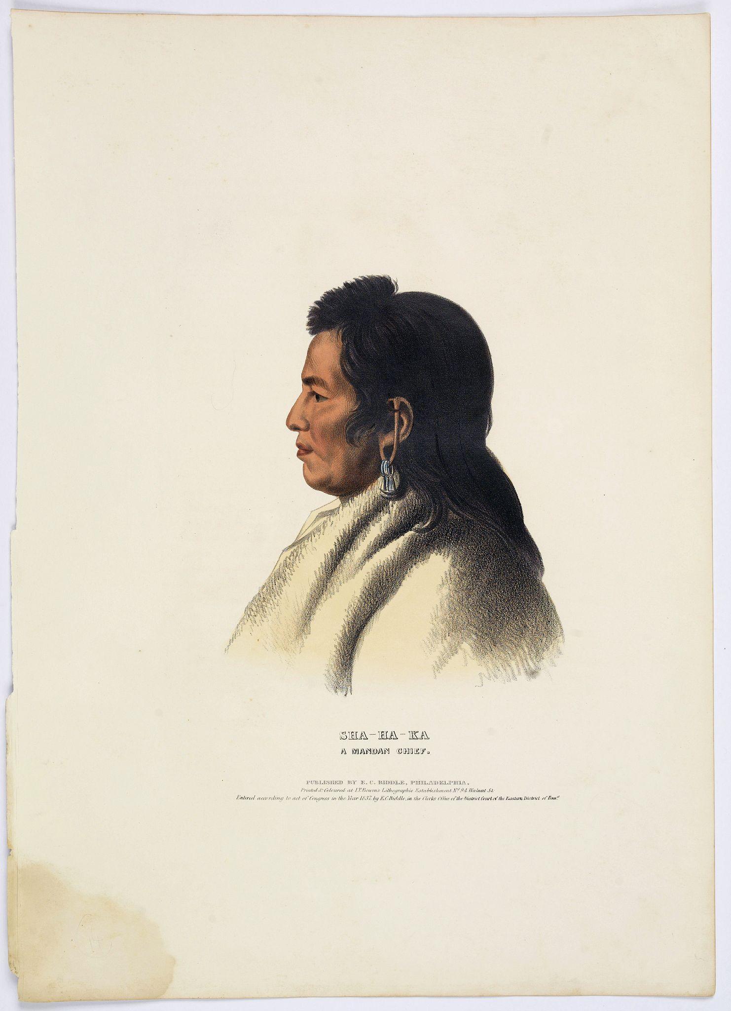 MCKENNEY, T & HALL, J. -  Sha-Ha-Ka. A Mandan Chief.