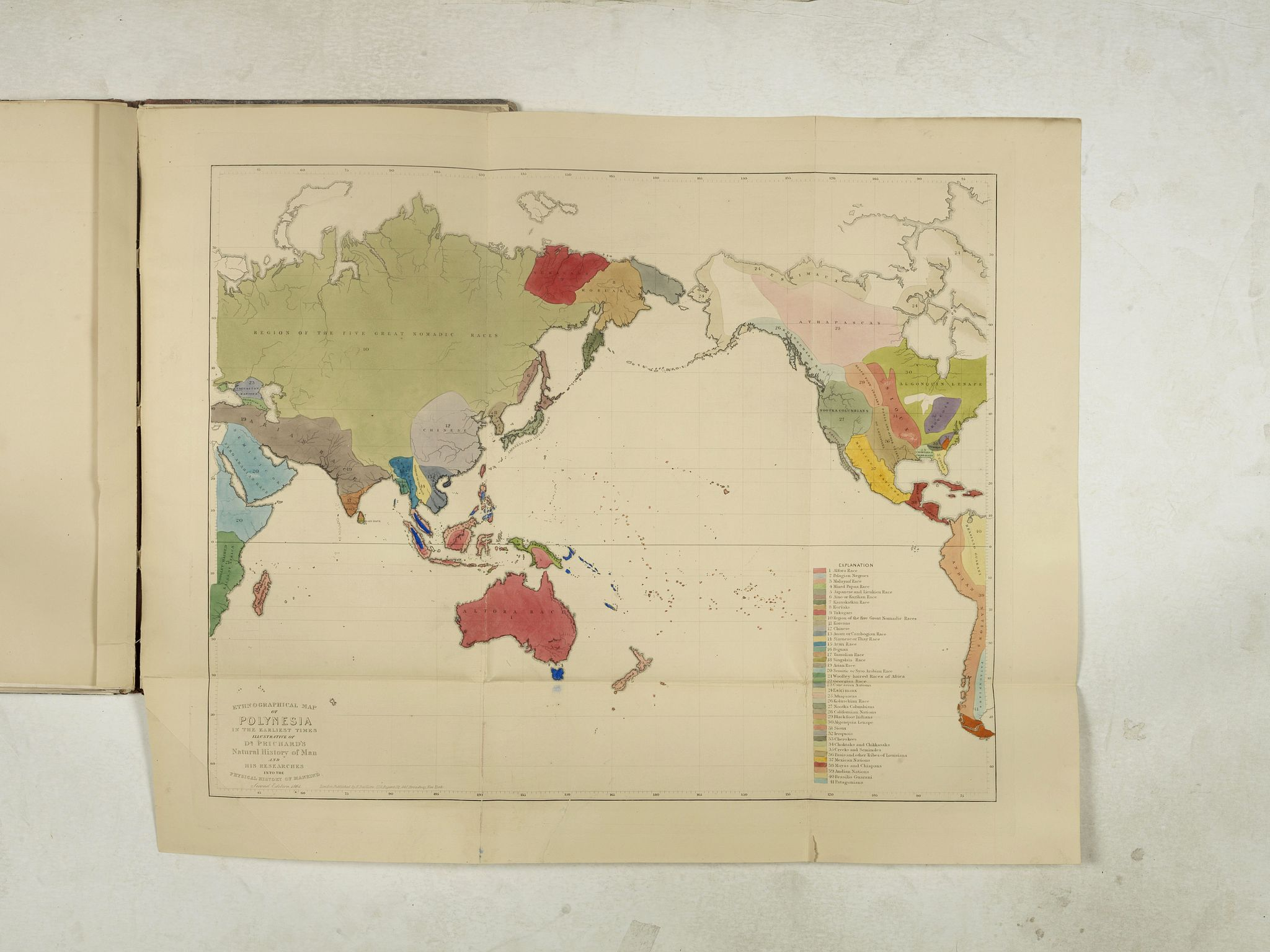PRICHARD, J, C. -  Six ethnographical maps illustrative of The Natural History of Man . . .