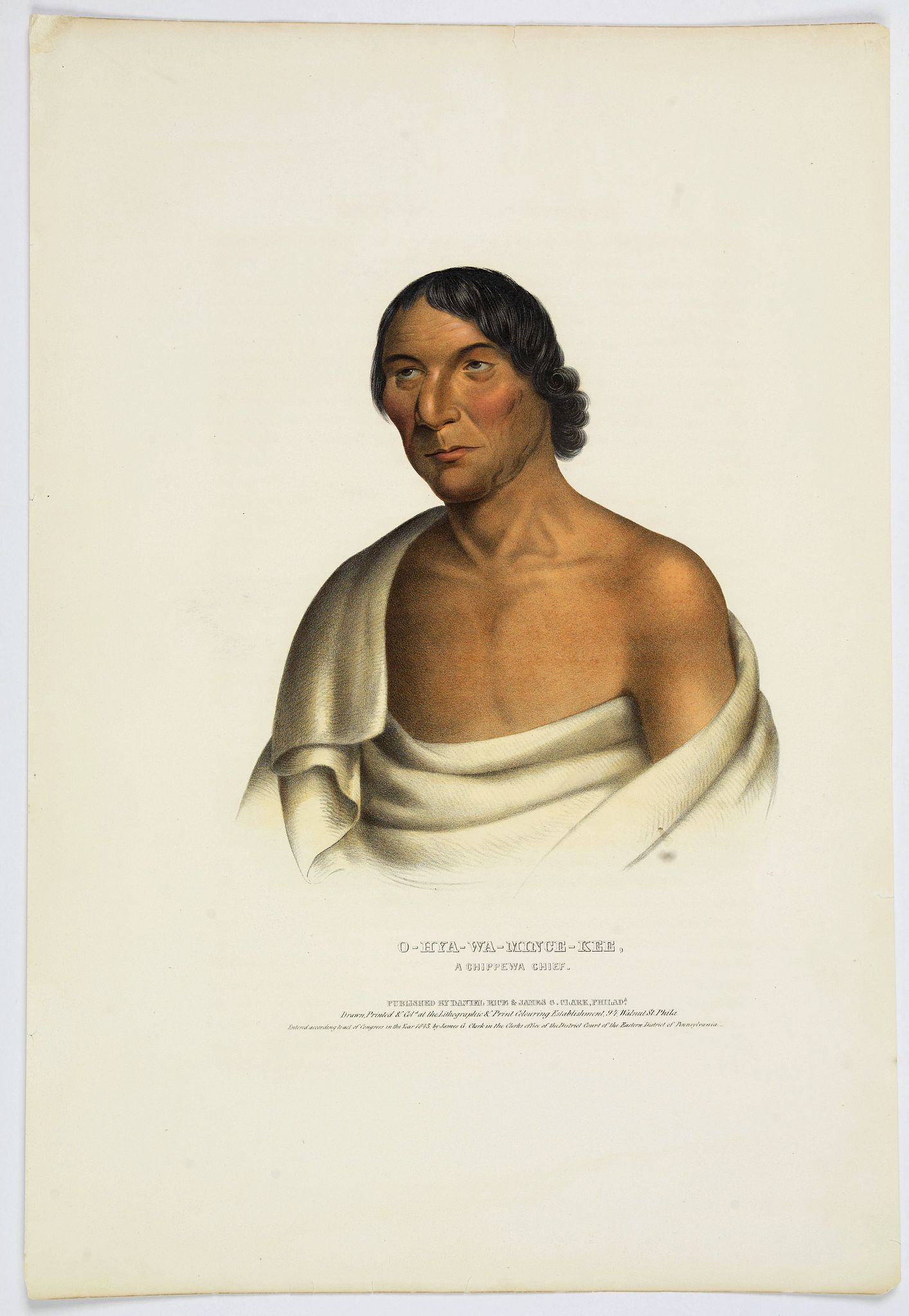 MCKENNEY, T & HALL, J. -  O-Hya-Wa-Mince-Kee. A Chippewa Chief.