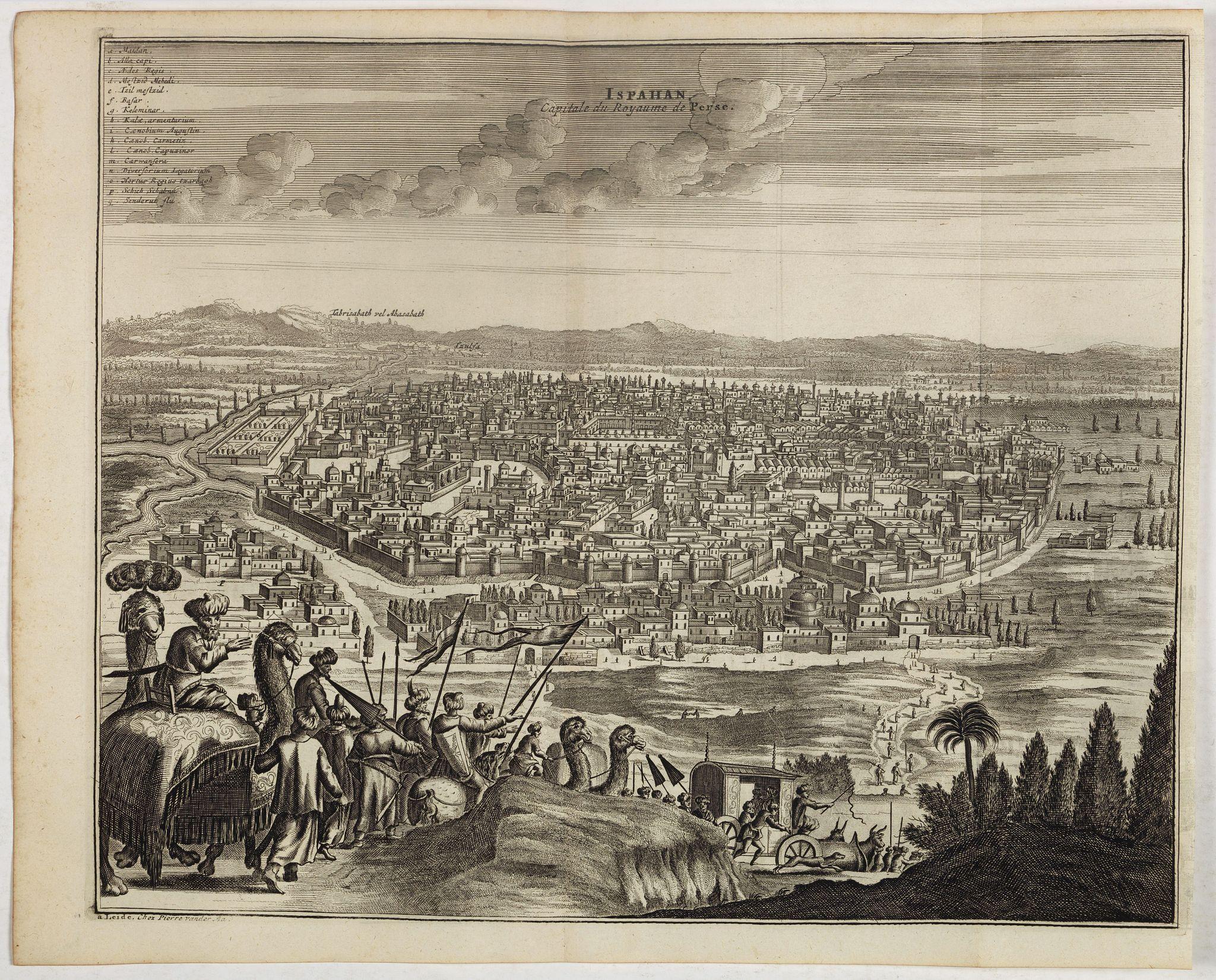 VAN DER AA, P. / OLEARIUS, A. -  Ispahan, capitale du Royaume de Perse. (Isfahan)