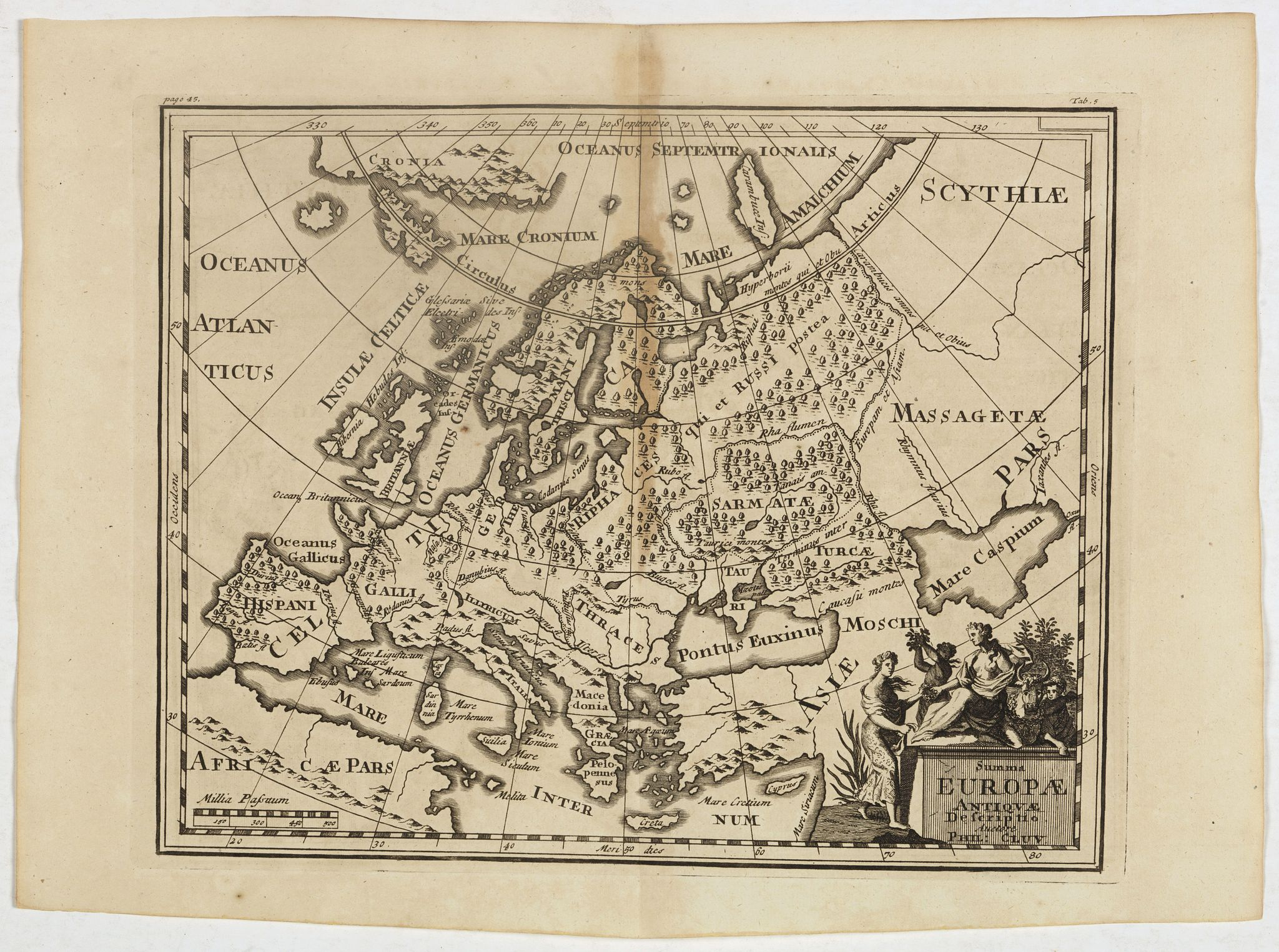 CLUVER, P. -  Summa Europae Antiquae descriptio.