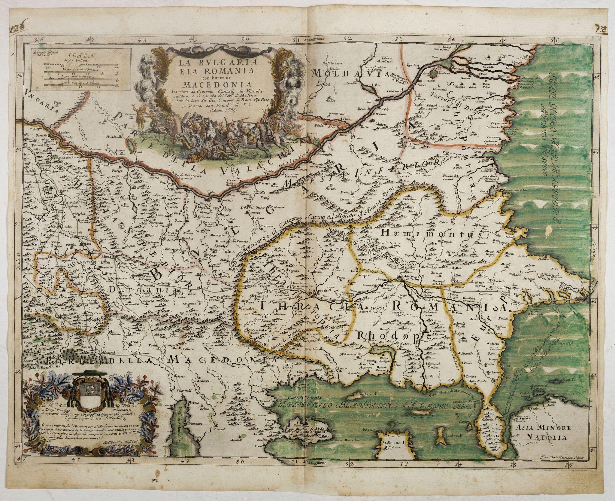 ROSSI, G.G. -  La Bulgaria ela Romania con Parte di Marcedonia. . .