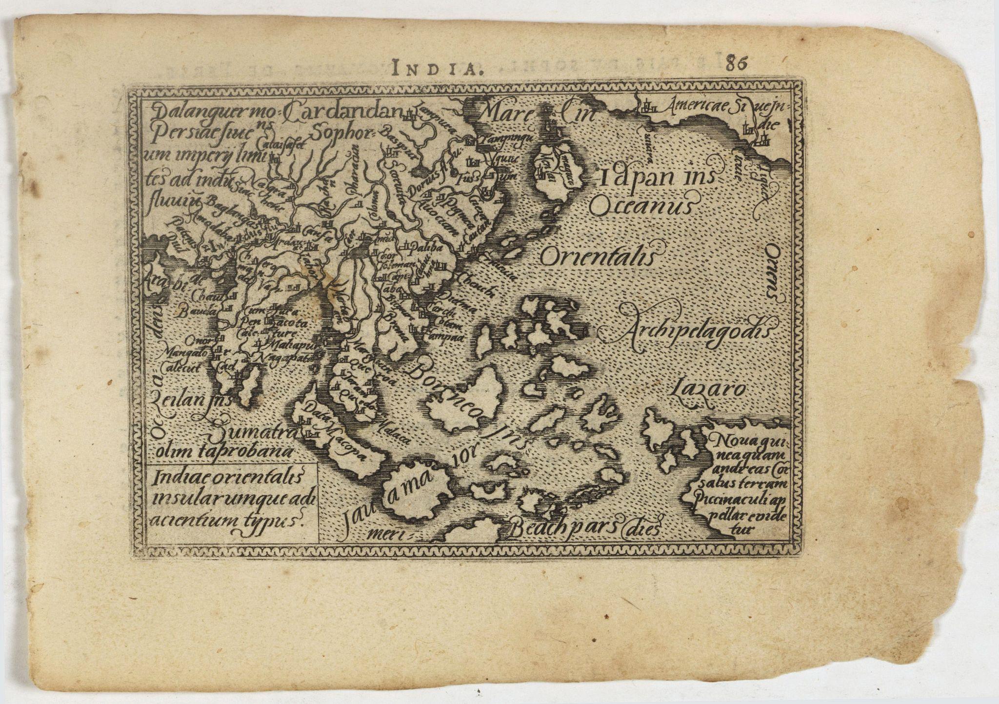 ORTELIUS, A. / GALLE, Ph. -  Indiae Orientalis, Insularumque Adiacentium Typus.