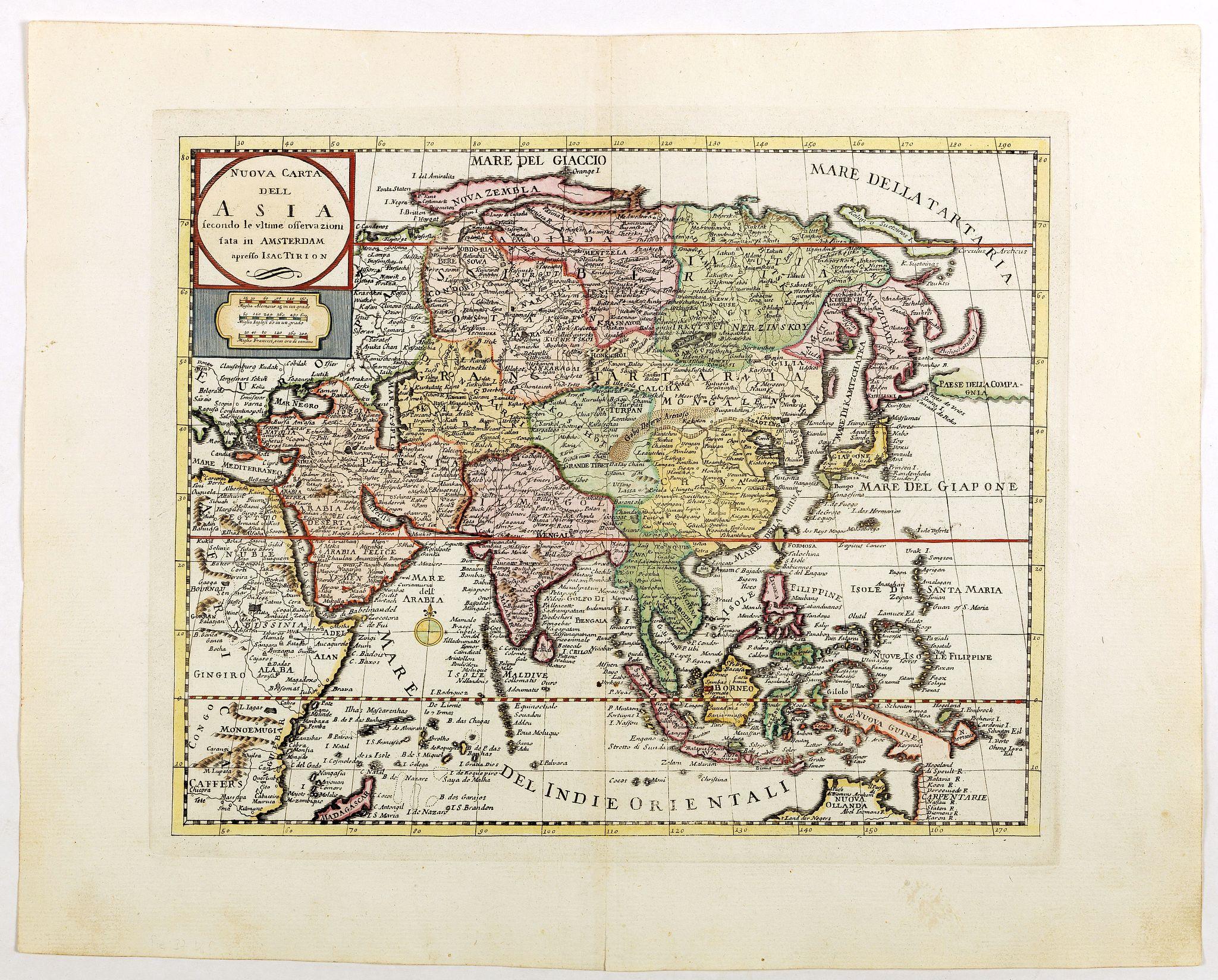 ALBRIZZI, G.B. -  Nuova carta dell Asia . . .