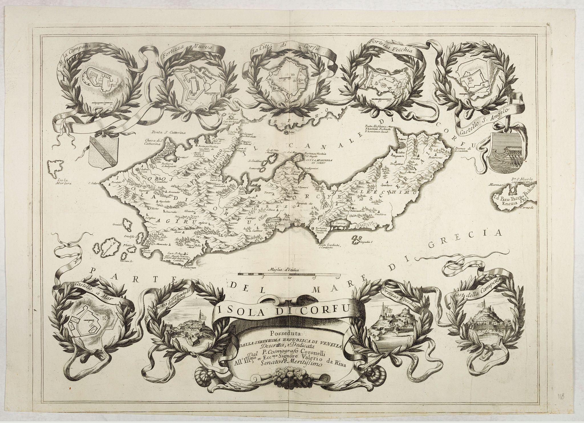 CORONELLI, V.M. -  Isola di Corfu.