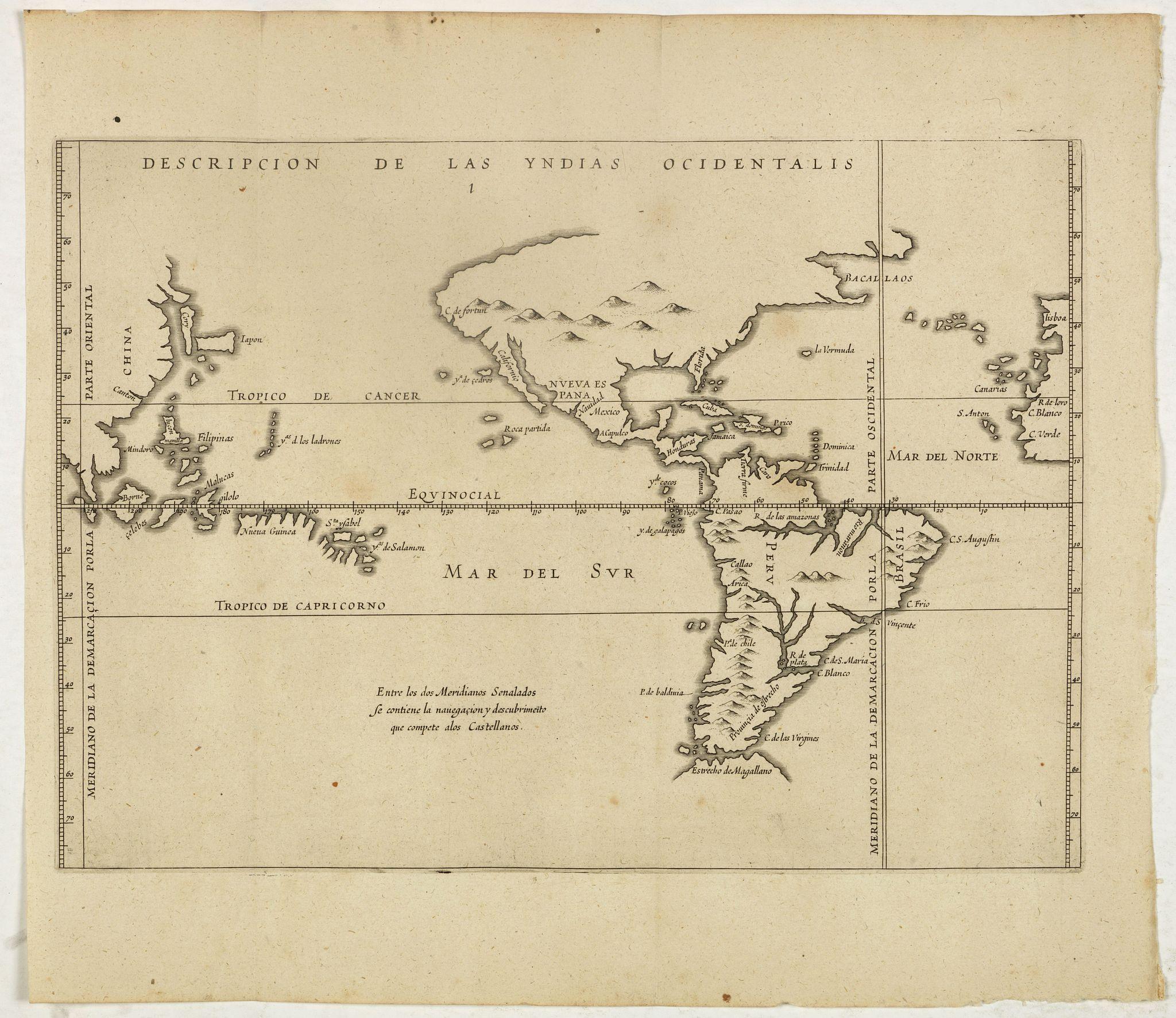 HERRERA y TORDESILLAS, A. de. -  Descripcion de las Yndias Ocidentalis.