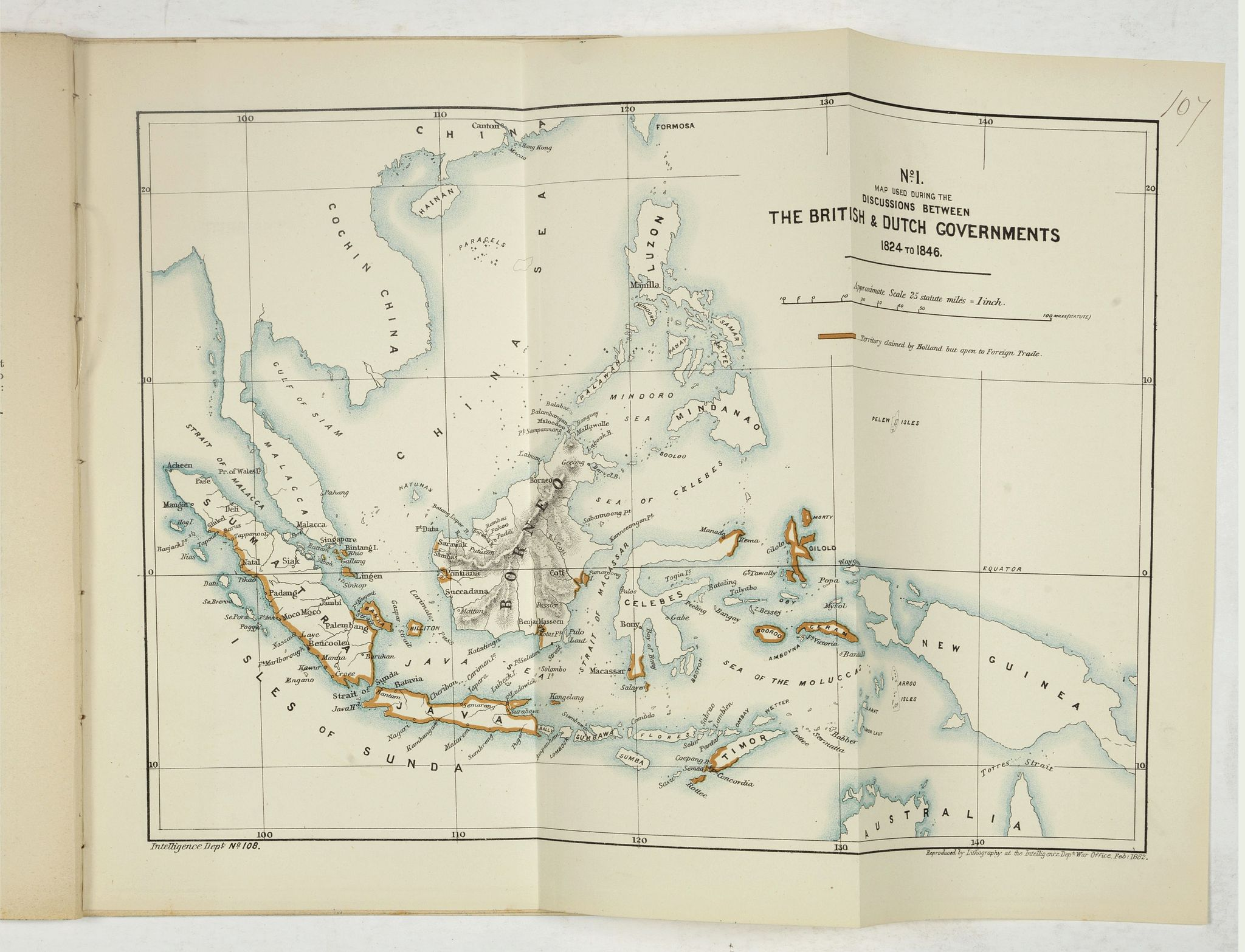 BRITISH NORTH BORNEO CHARTERED COMPANY -  Papers relating to the affairs of Sulu and Borneo, and to the grant of a charter of incorporation of the British North Borneo Company. . . (with two folding maps of Indonesia)
