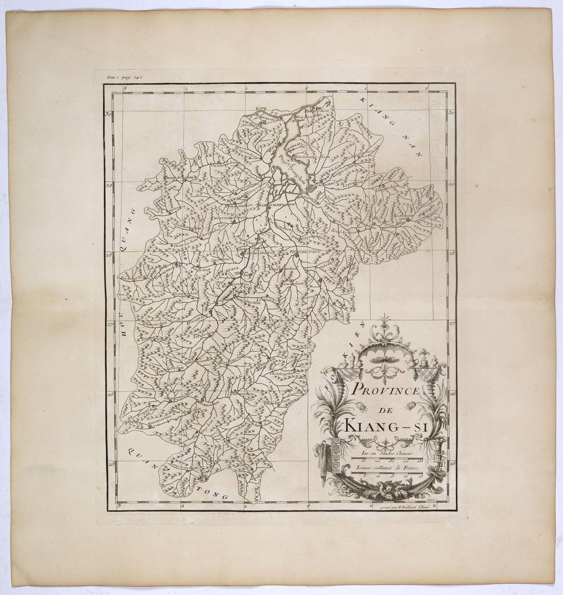 ANVILLE, J.B.D' -  Province de Kiang-Si. [Jiangxi 江西 province.]