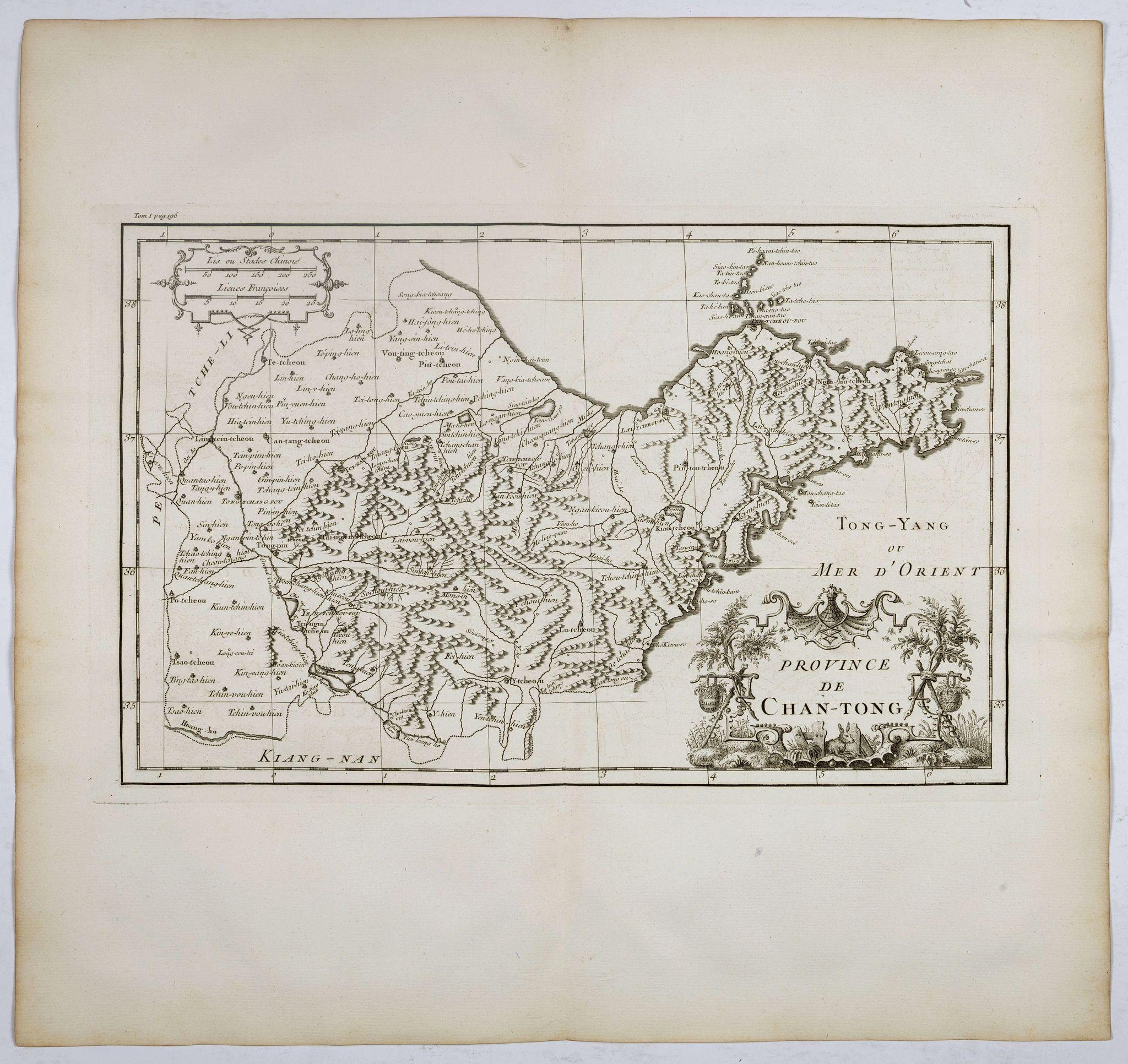 ANVILLE, J.B.D' -  Province de Chan-Tong.