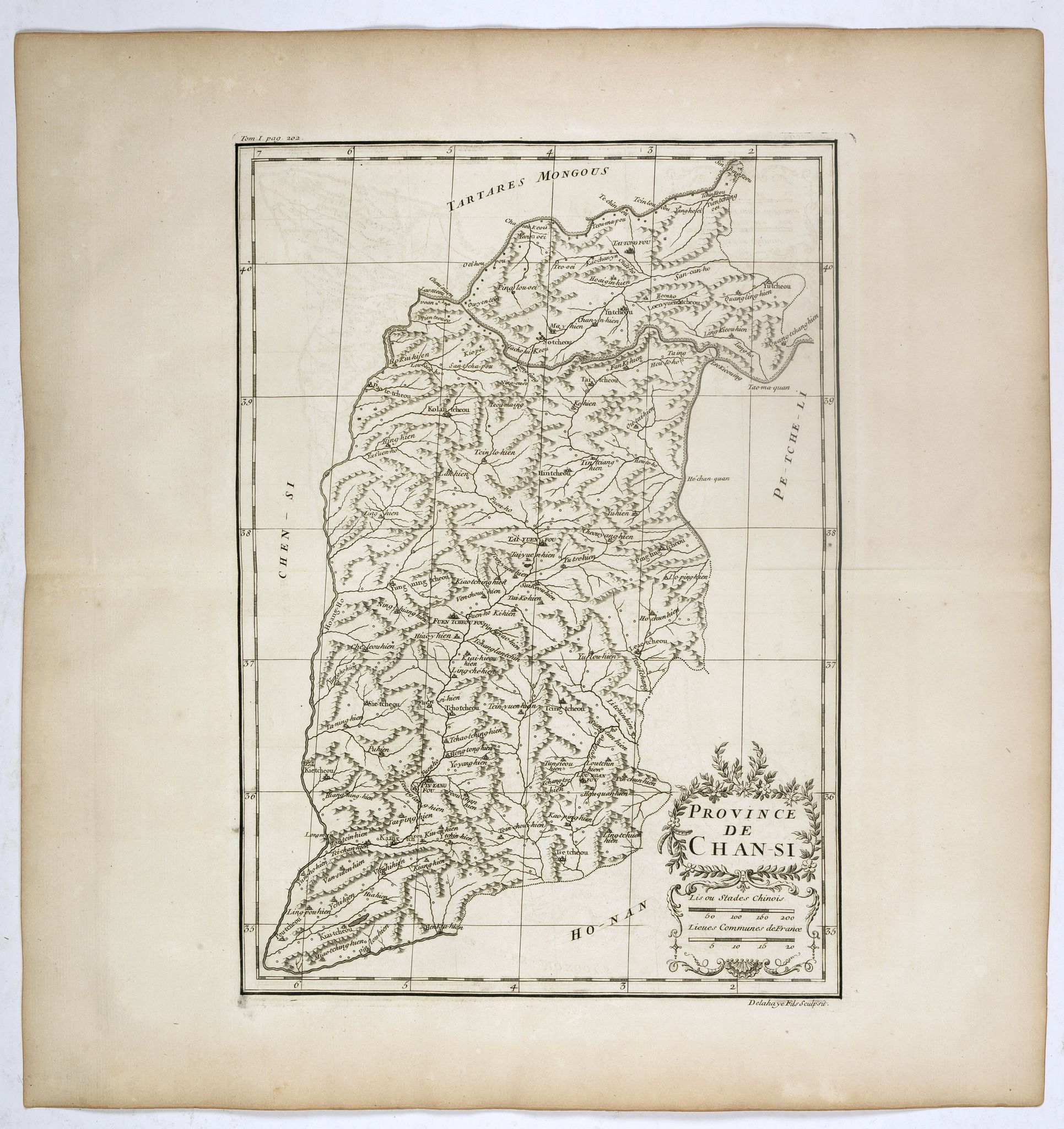 ANVILLE, J.B.D' -  Province de Chan-Si. [Chan-s 山西i [Shanxi] province.]