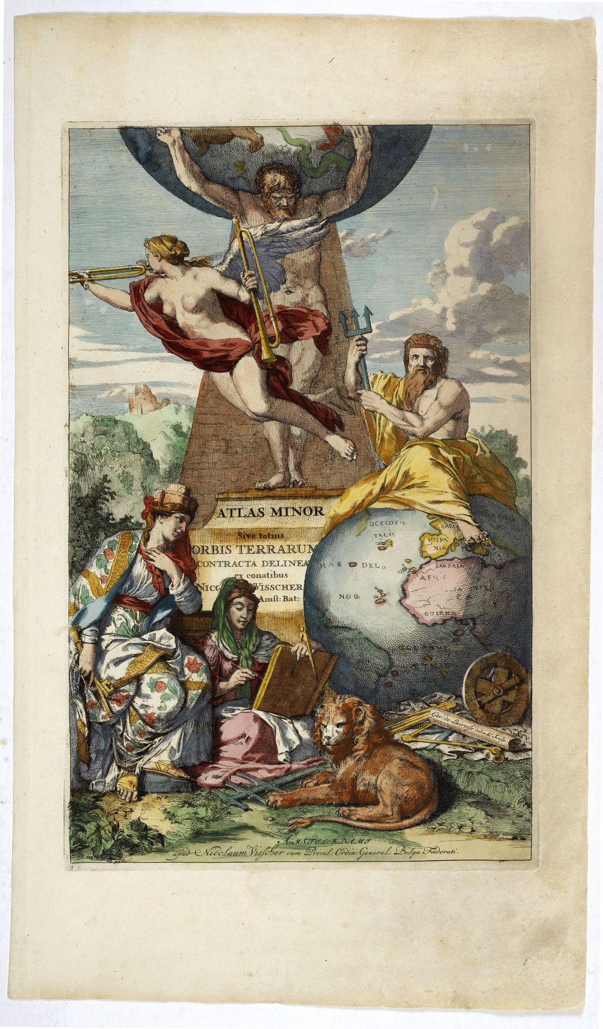 VISSCHER, N. -  [Title page]  Atlas Minor sive totius Orbis Terrarum..