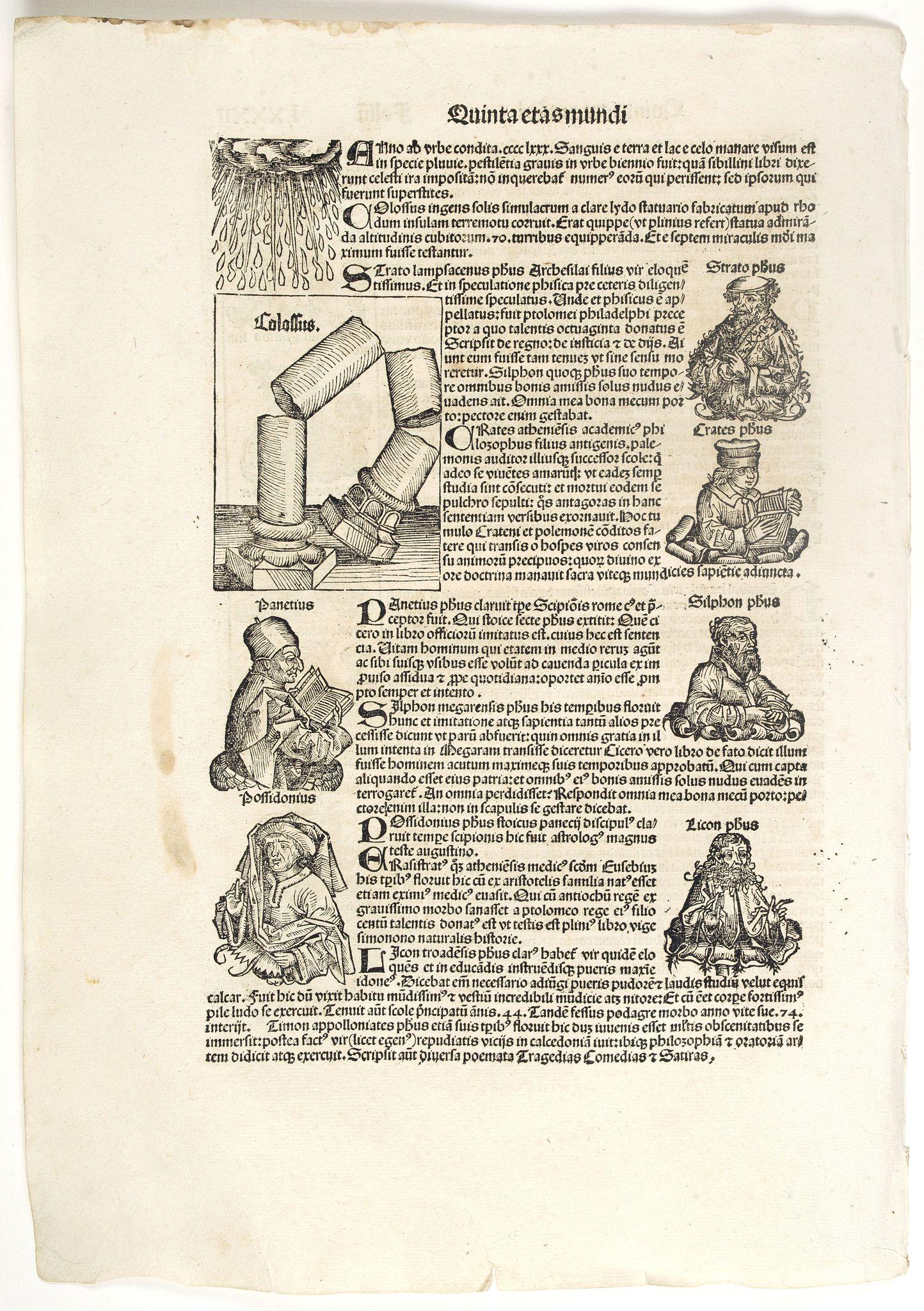 SCHEDEL, H. -  Quinta Etas Mundi. Folium.LXXXII