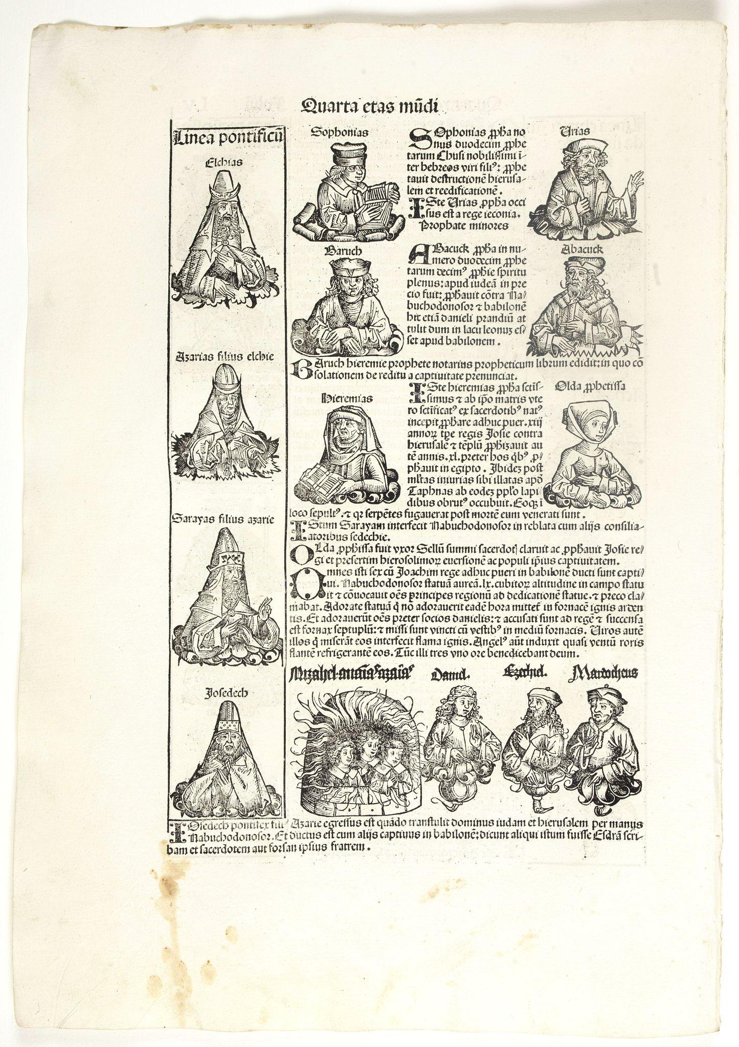 SCHEDEL, H. -  Quarta Etas Mundi. Folium. LV