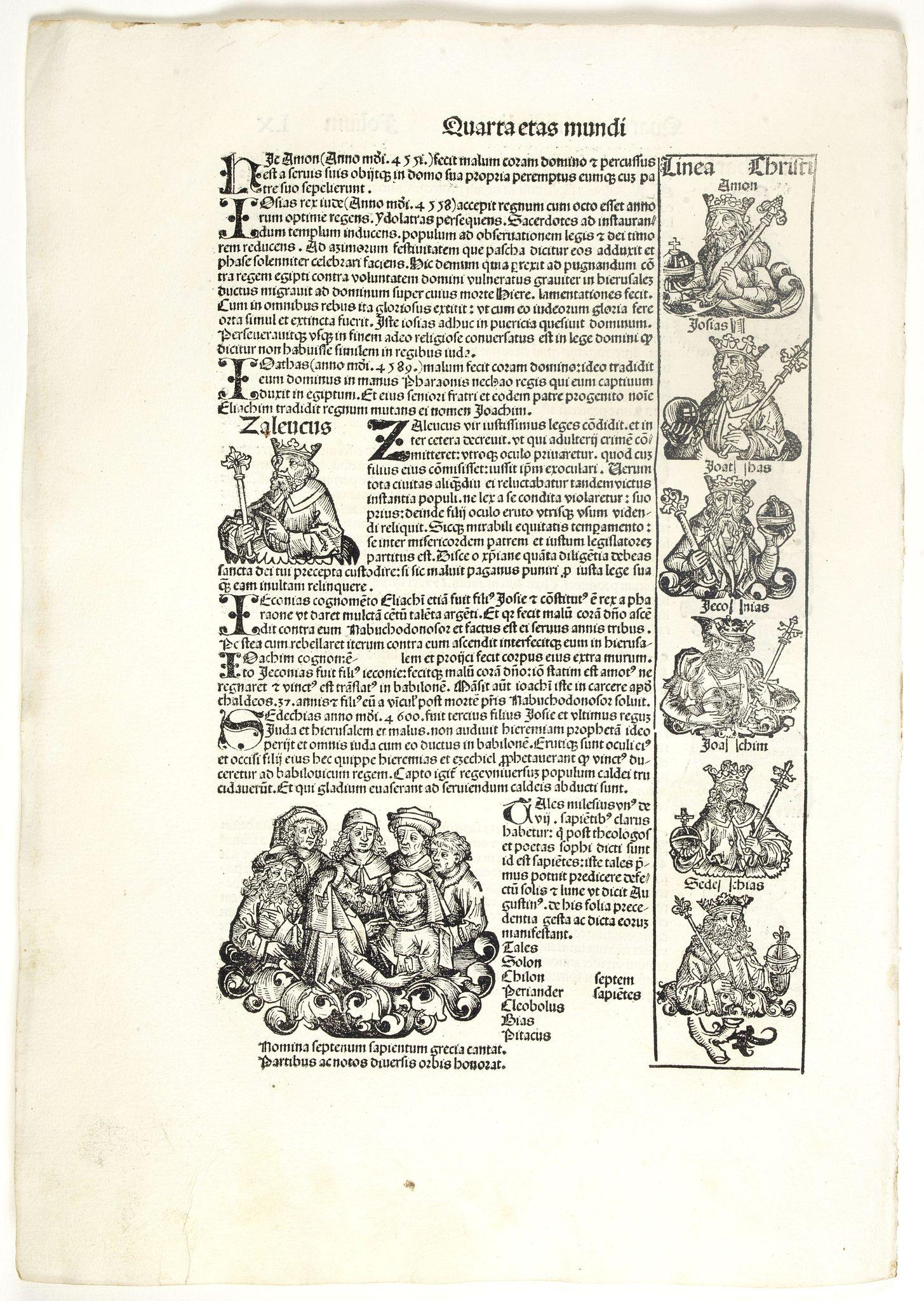 SCHEDEL, H. -  Quarta Etas Mundi. Folium. LX