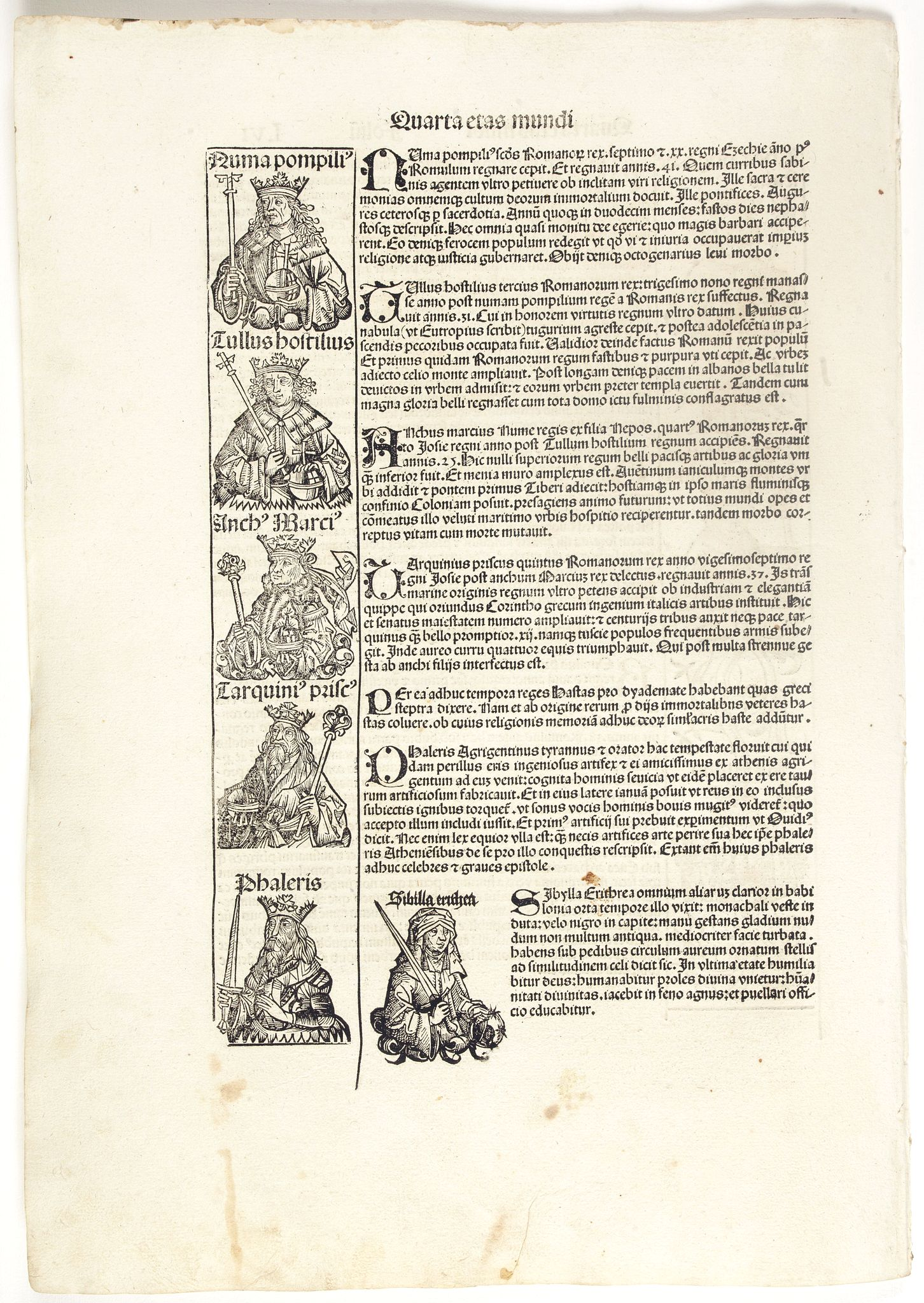 SCHEDEL, H. -  Quarta Etas Mundi. Folium. LVI