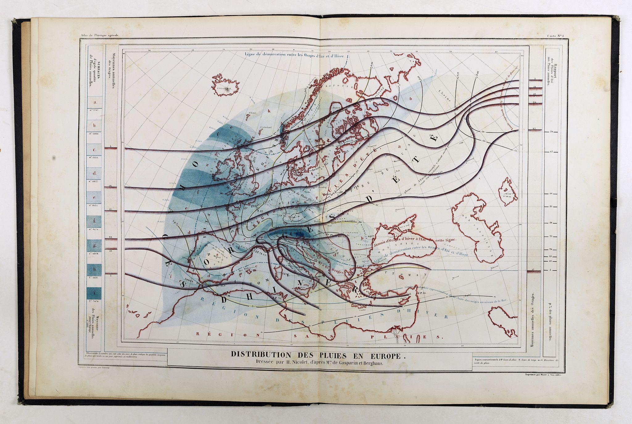 NICOLET, H. -  Atlas de physique et de meteorologie agricoles.