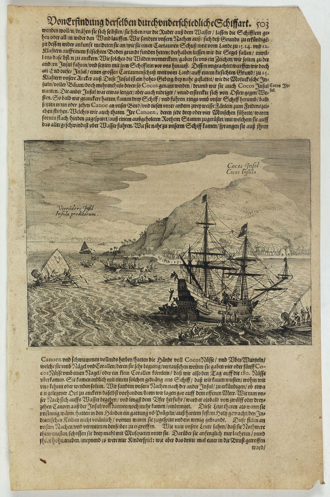 GOTTFRIED, J.L. -  Cocos Insel Cocos Insula / Verräter Insel Insula proditorum.