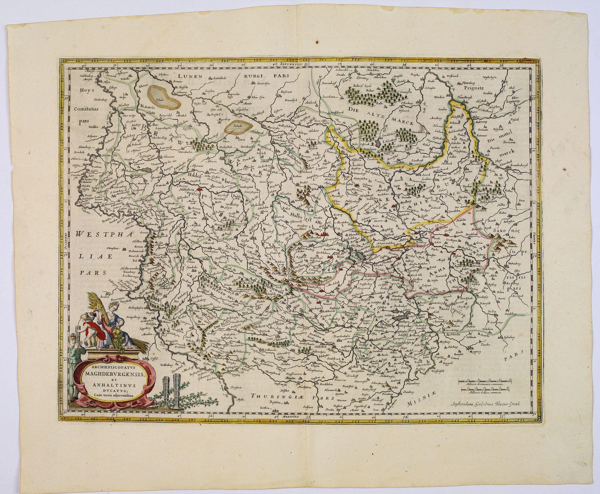 BLAEU, J. -  Archiepiscopatus Maghdeburgensis et Anhaltinus Ducatus.