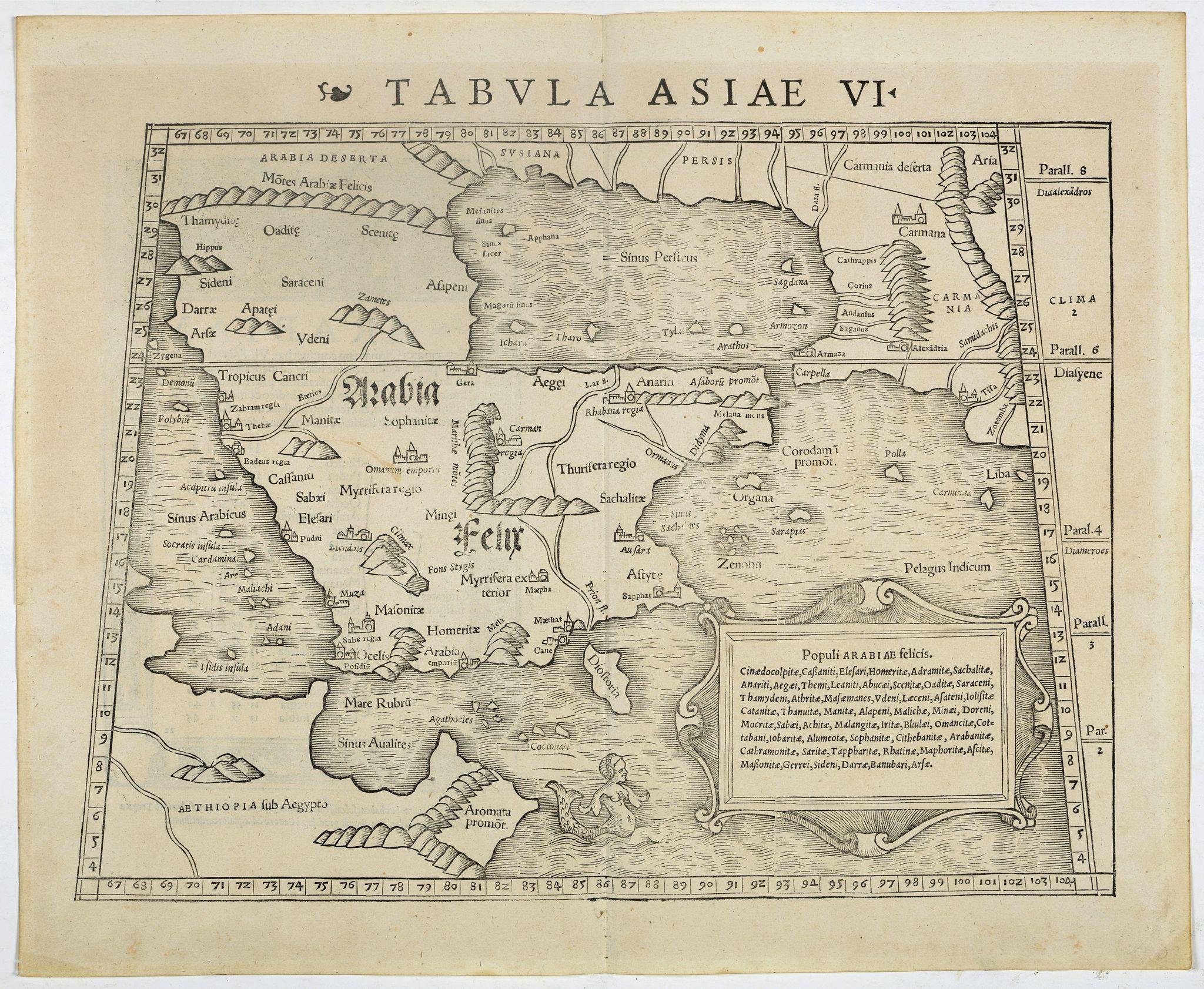 MÜNSTER, S. -  Tabula Asiae VI. [Arabia Felix]