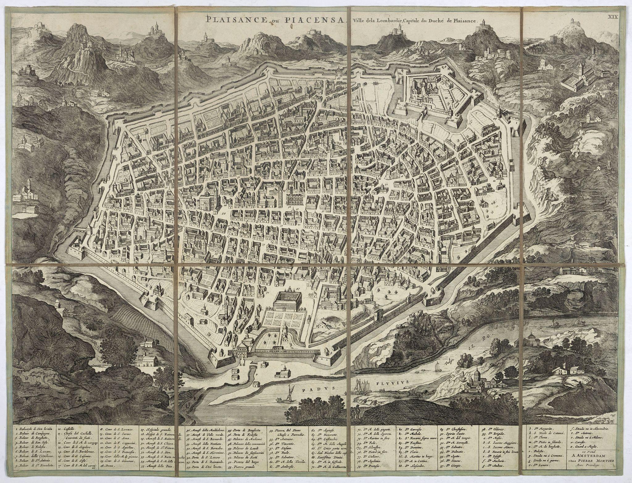 MORTIER, P. -  Plaisance ou Piacensa, ville de la Lombardie, capitale du duché de Plaisance.