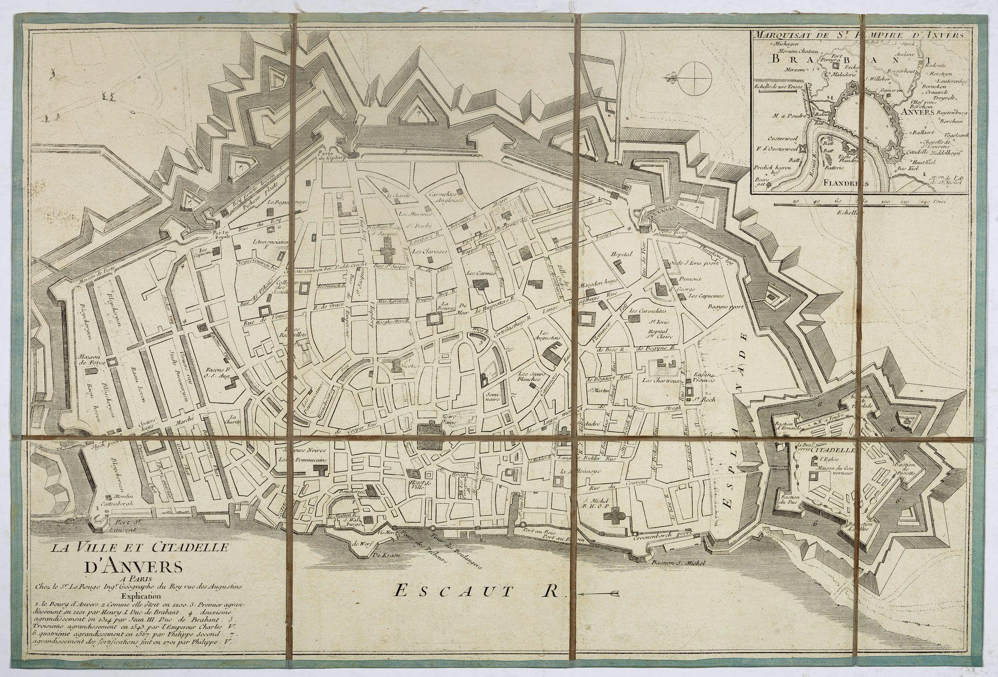 LE ROUGE, G-L. -  La ville et citadelle d'Anvers. [Antwerp]