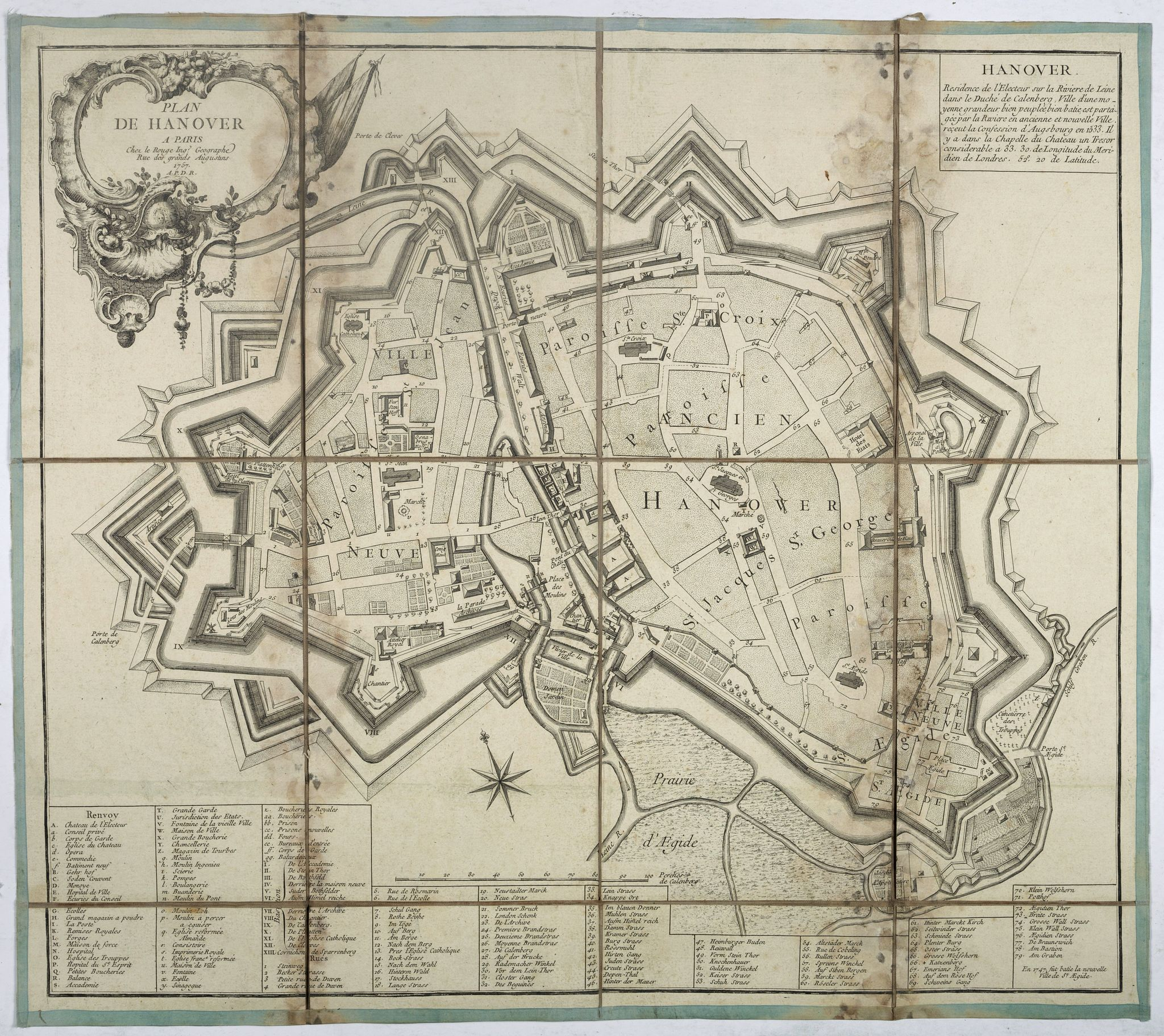 LE ROUGE, G-L -  Plan de Hanover.