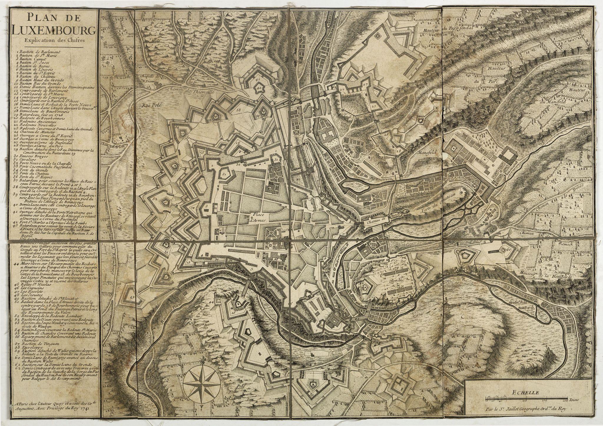 JAILLOT, B-A. -  Plan de Luxembourg.