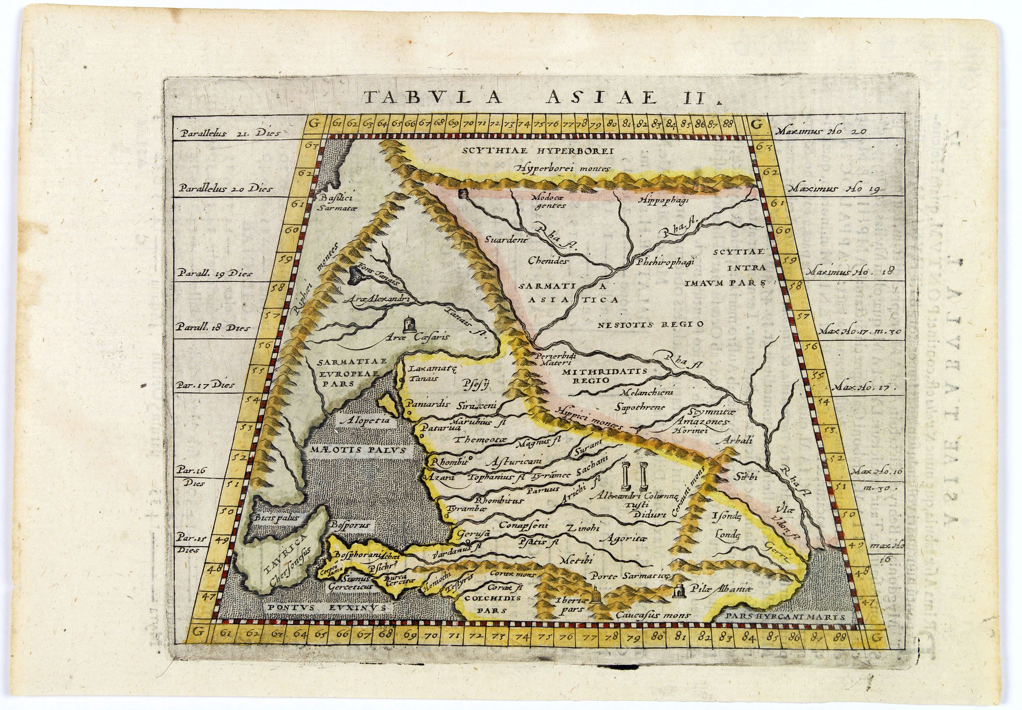 PTOLEMY / MAGINI, G.A.,  Tabula Asiae II., antique map, old maps