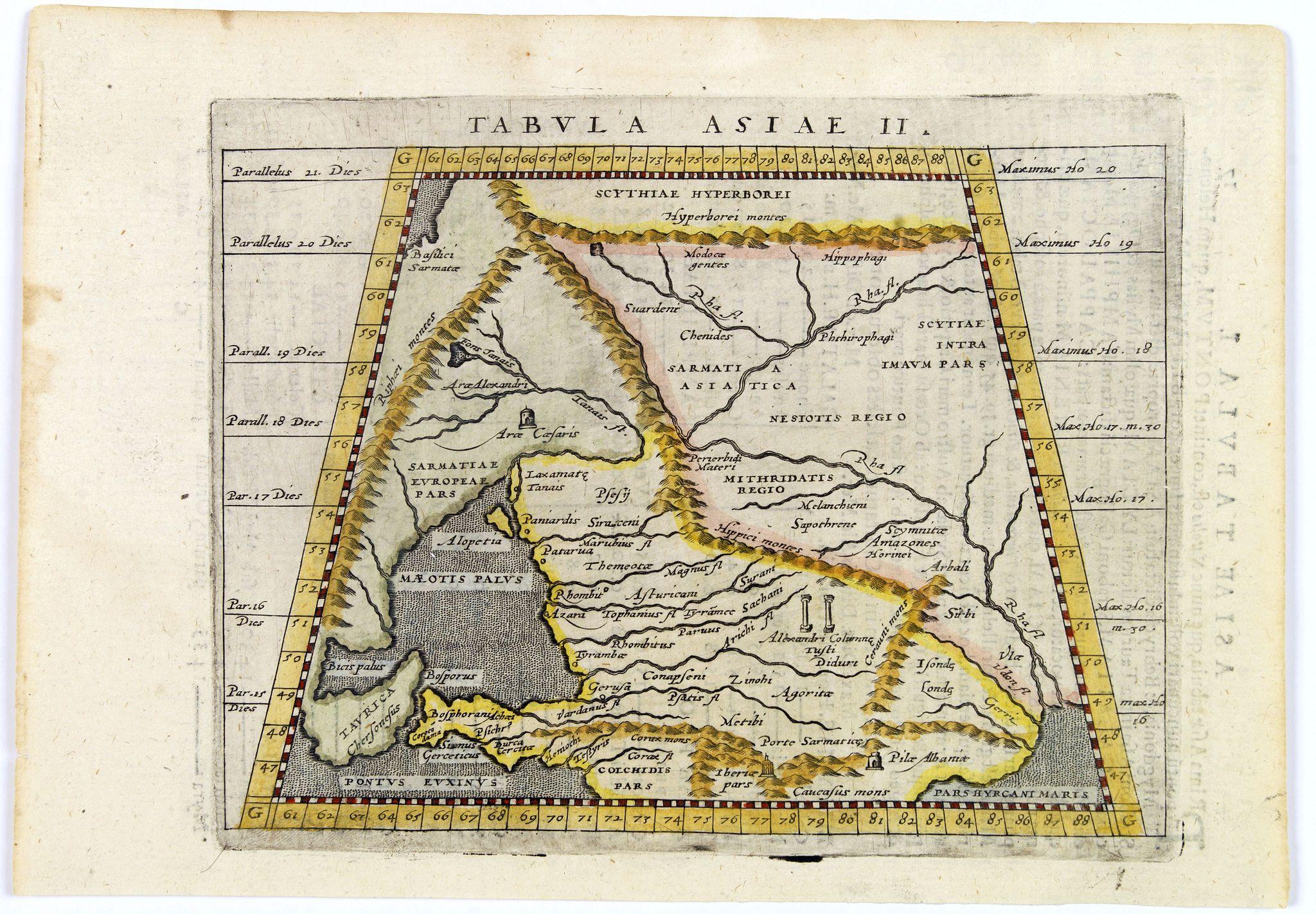 PTOLEMY / MAGINI, G.A. -  Tabula Asiae II.