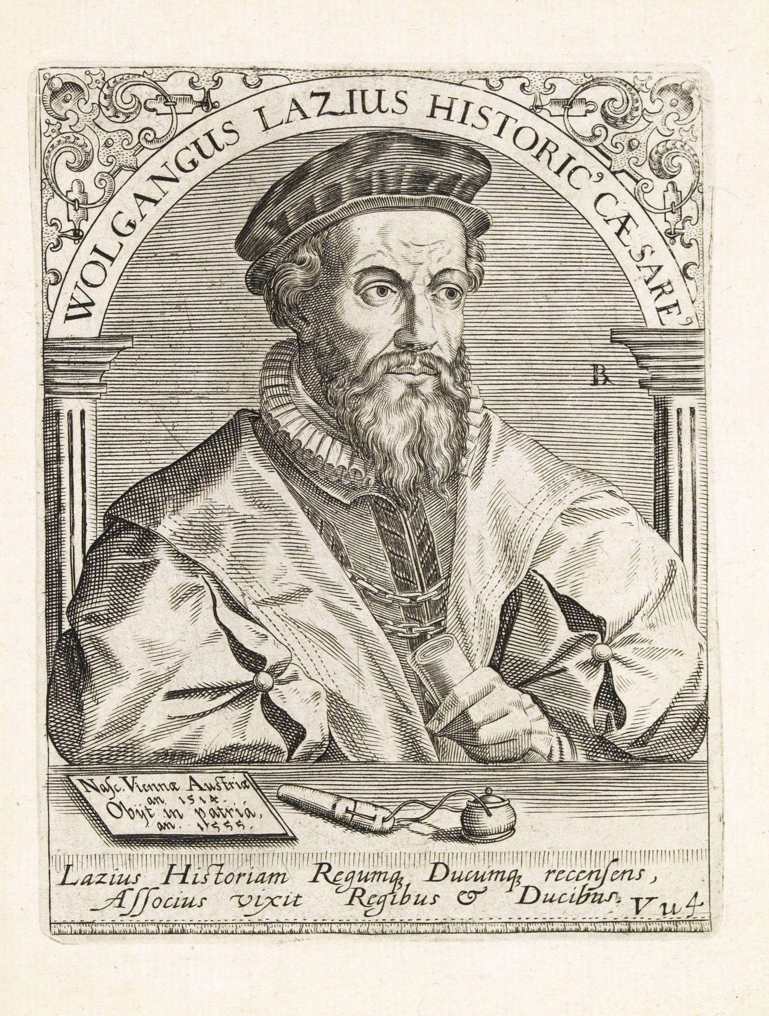DE BRY, Th. -  Wolgangus Lazius Historic Caesare.